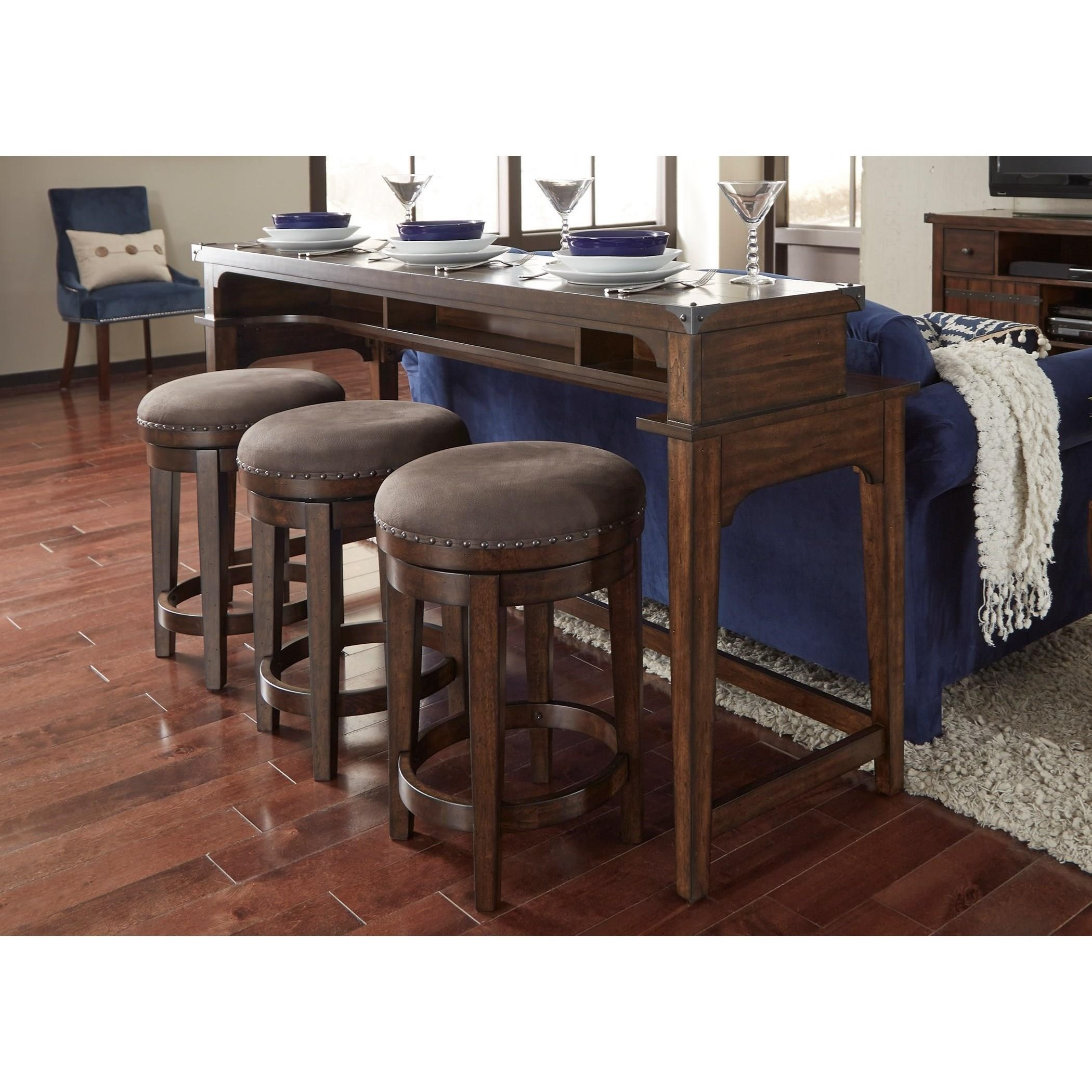 liberty furniture aspen skies counter height sofa table. Black Bedroom Furniture Sets. Home Design Ideas