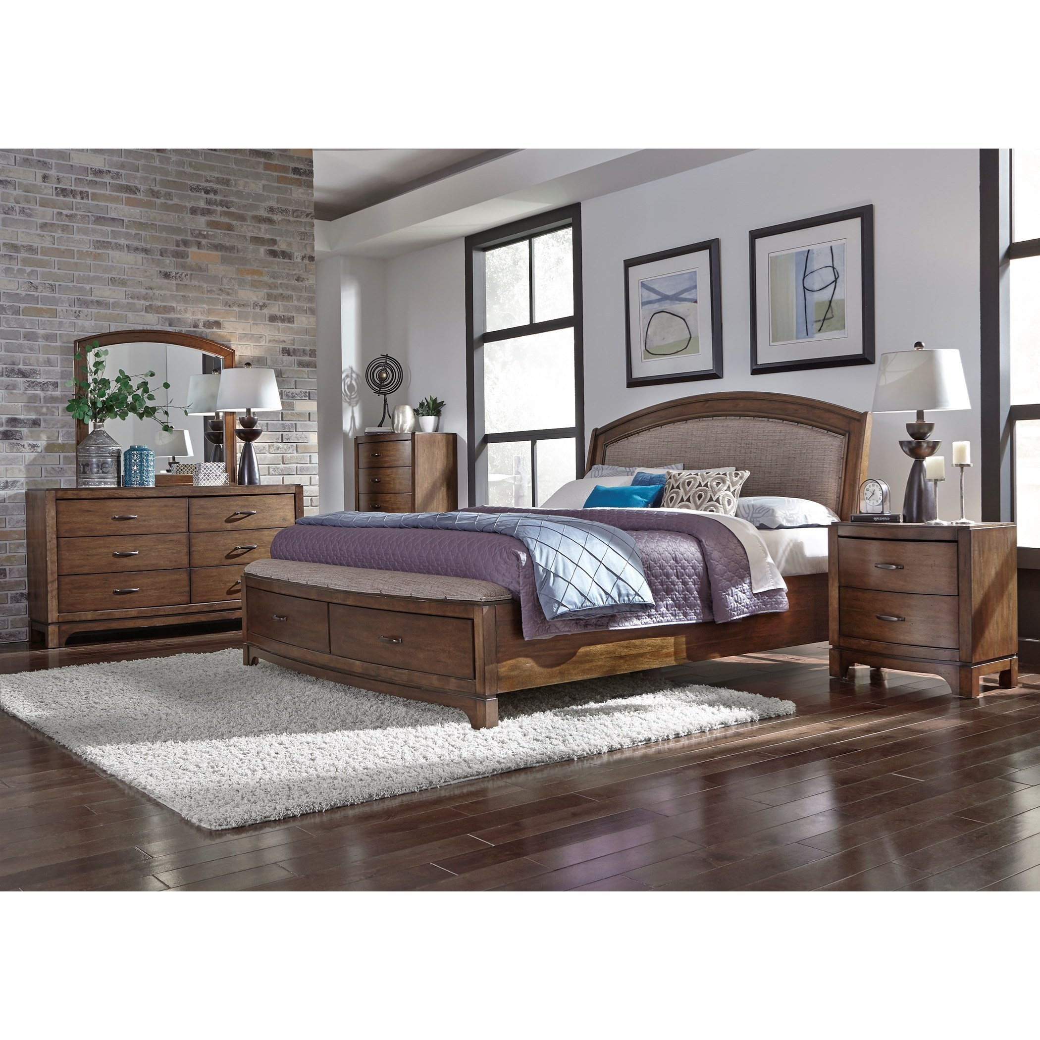 Liberty furniture avalon iii queen bedroom group prime for Bedroom furniture groups