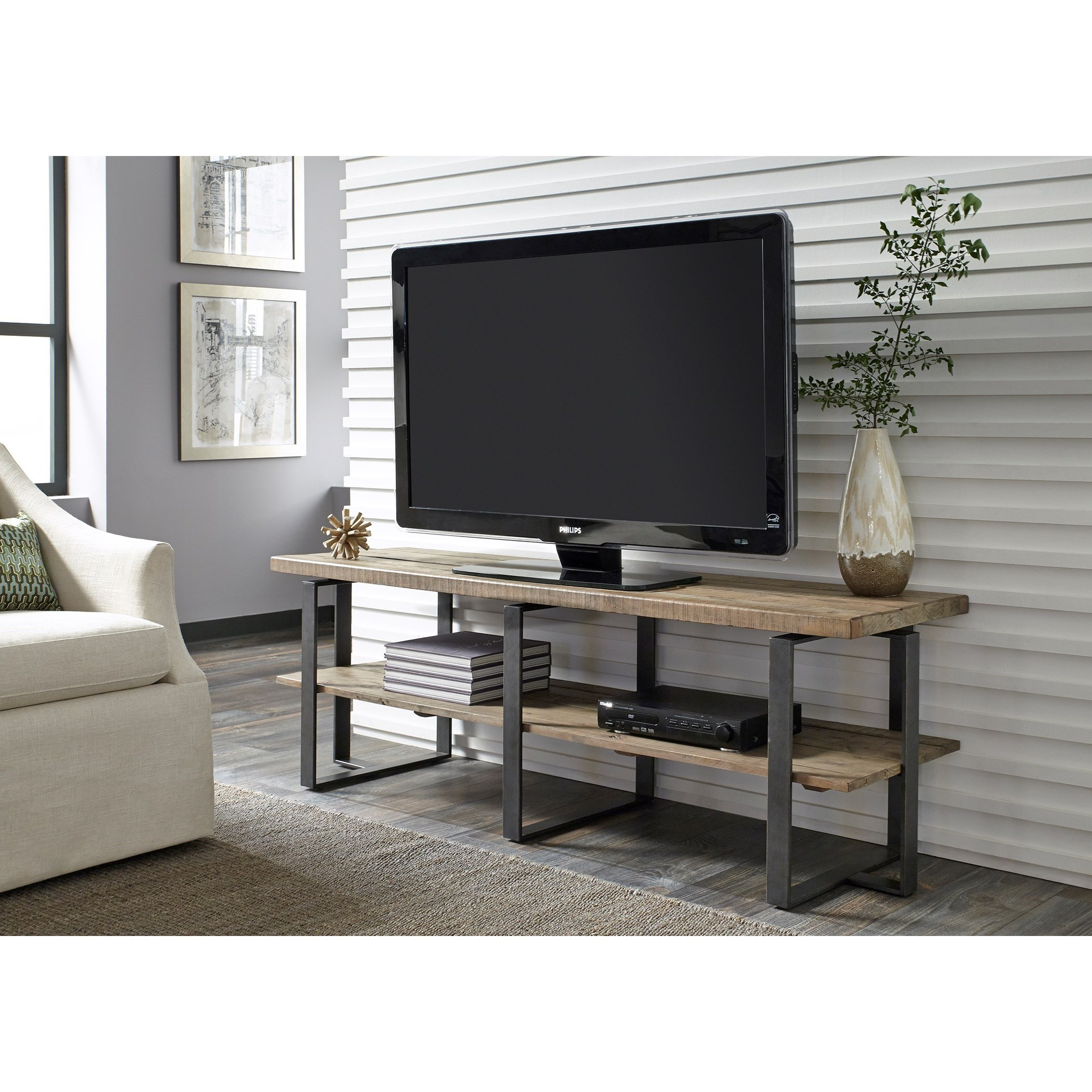 Liberty furniture baja entertainment tv console with shelf for Baja furniture