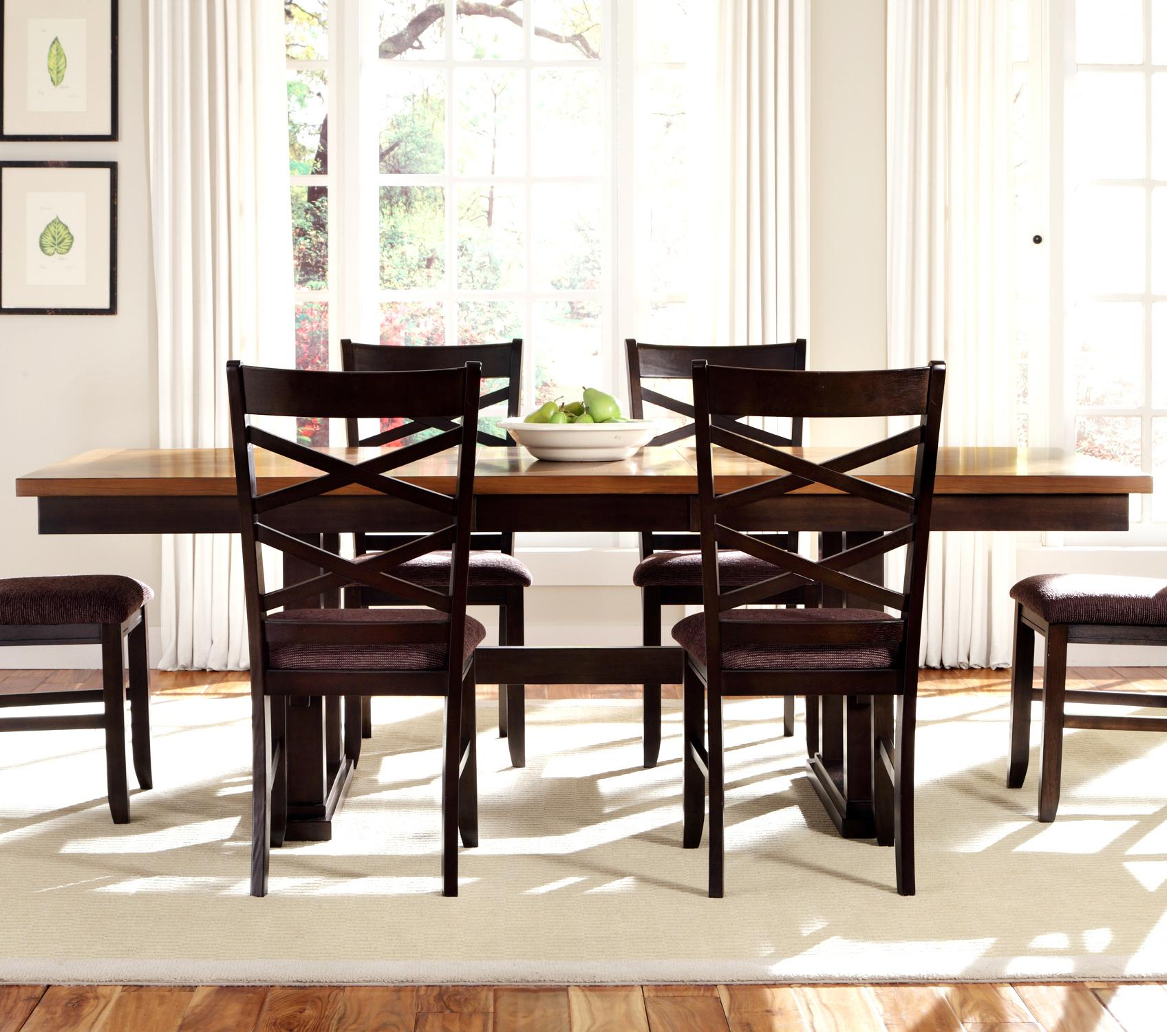 Colby Rectangular Trestle Dining Table Rotmans Dining