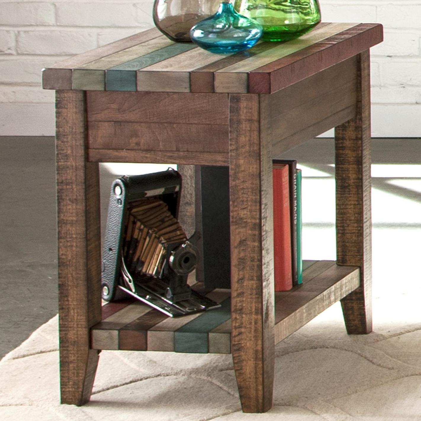 Liberty furniture boho loft 174 ot1021 chairside table for Hudsons furniture