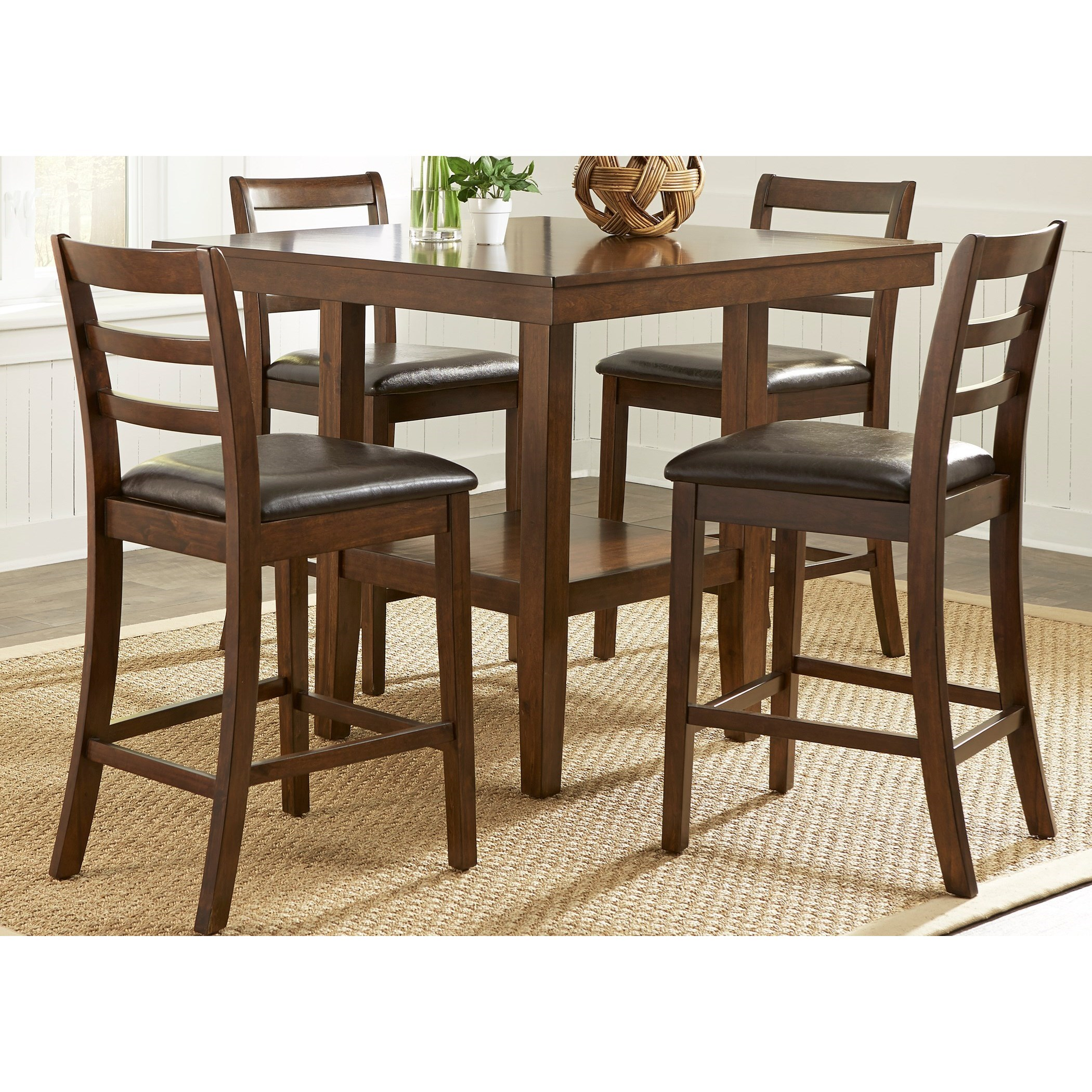 vendor 5349 bradshaw casual dining 32 cd 5gts 5 piece gathering table set becker furniture. Black Bedroom Furniture Sets. Home Design Ideas