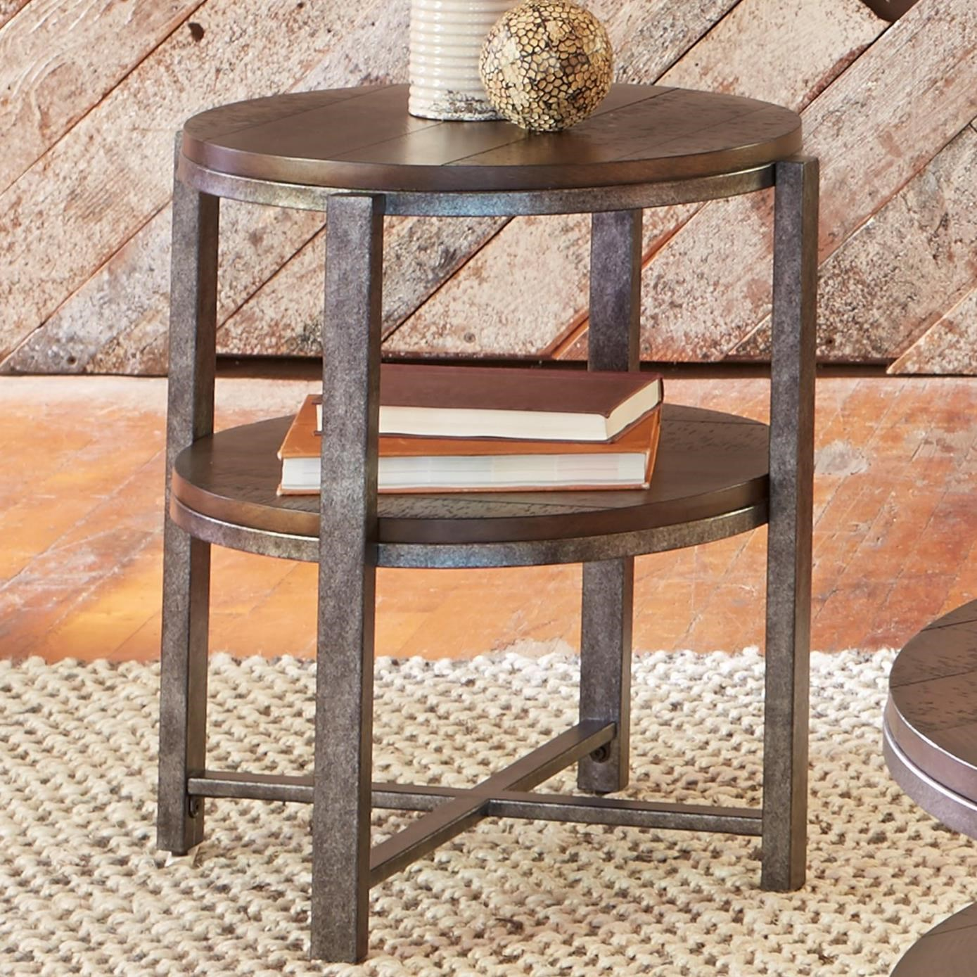 Liberty Furniture Breckinridge 348 Ot1020 Round End Table With Shelf Great American Home Store