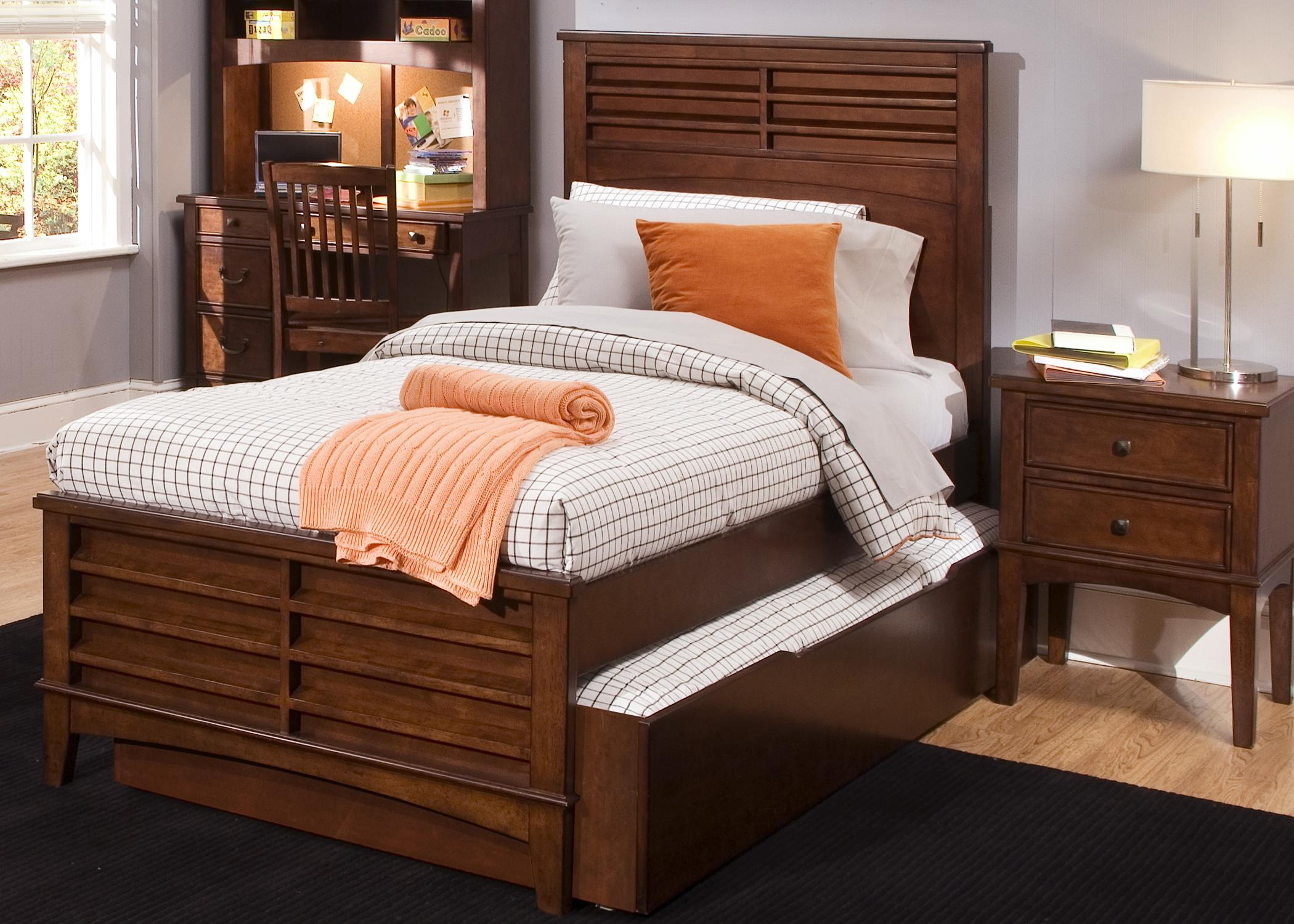 Vendor 5349 chelsea square youth full size panel bed with Full size storage bed
