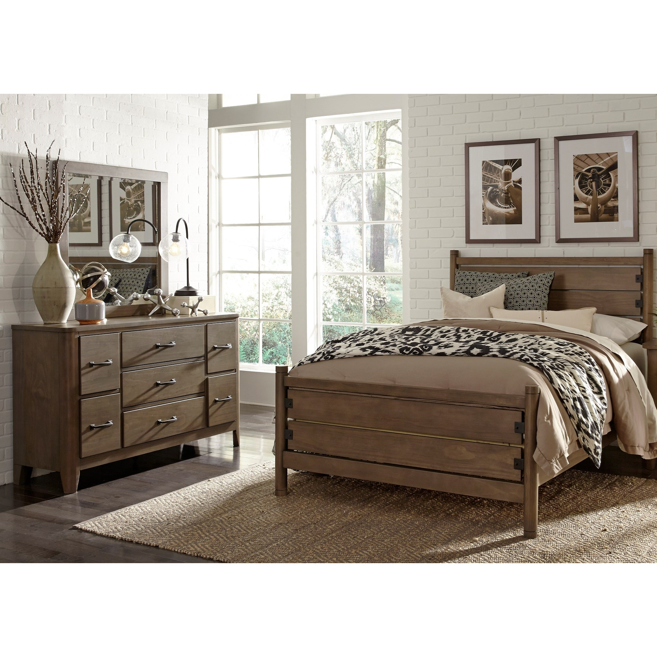 Liberty furniture cottonwood creek full bedroom group for Bedroom furniture groups