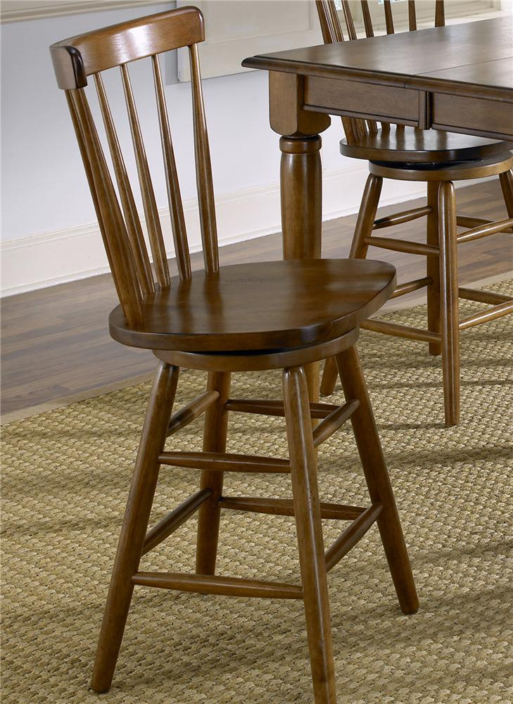 Liberty Furniture Creations II Copenhagen Barstool with Spindle Back ...
