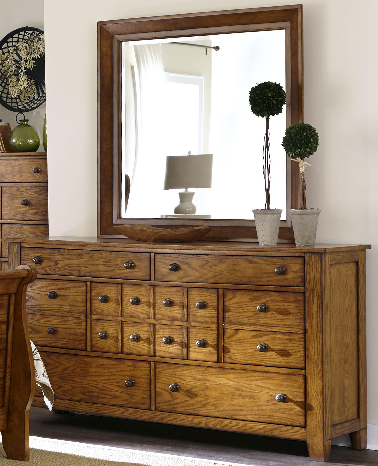 Grandpa's Cabin Dresser and Mirror Set by Liberty Furniture at Standard Furniture