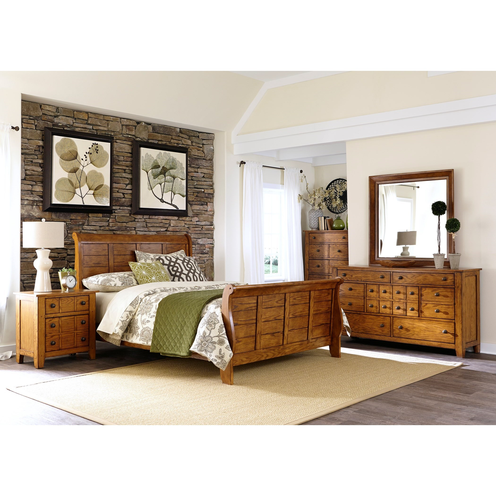 Grandpa's Cabin King Bedroom Group by Liberty Furniture at Northeast Factory Direct