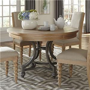 Harbor View Trestle Dining Table With 2 Nine Inch Leaves Rotmans Dining Tables