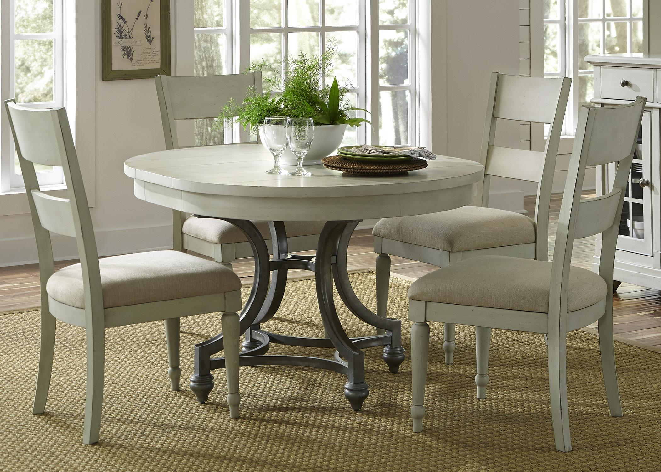 Liberty Furniture Harbor View Round Table and 4