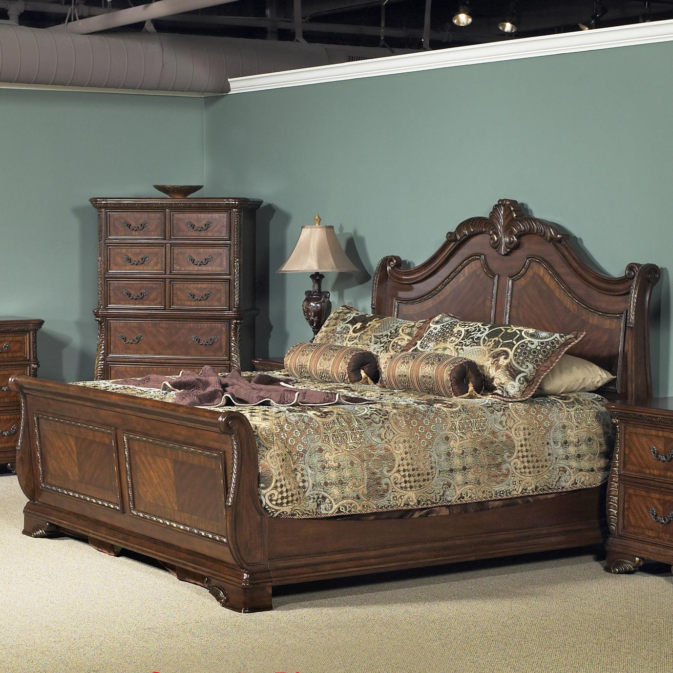 Liberty Furniture Highland Court King Sleigh Bed With Arched Headboard Wayside Furniture