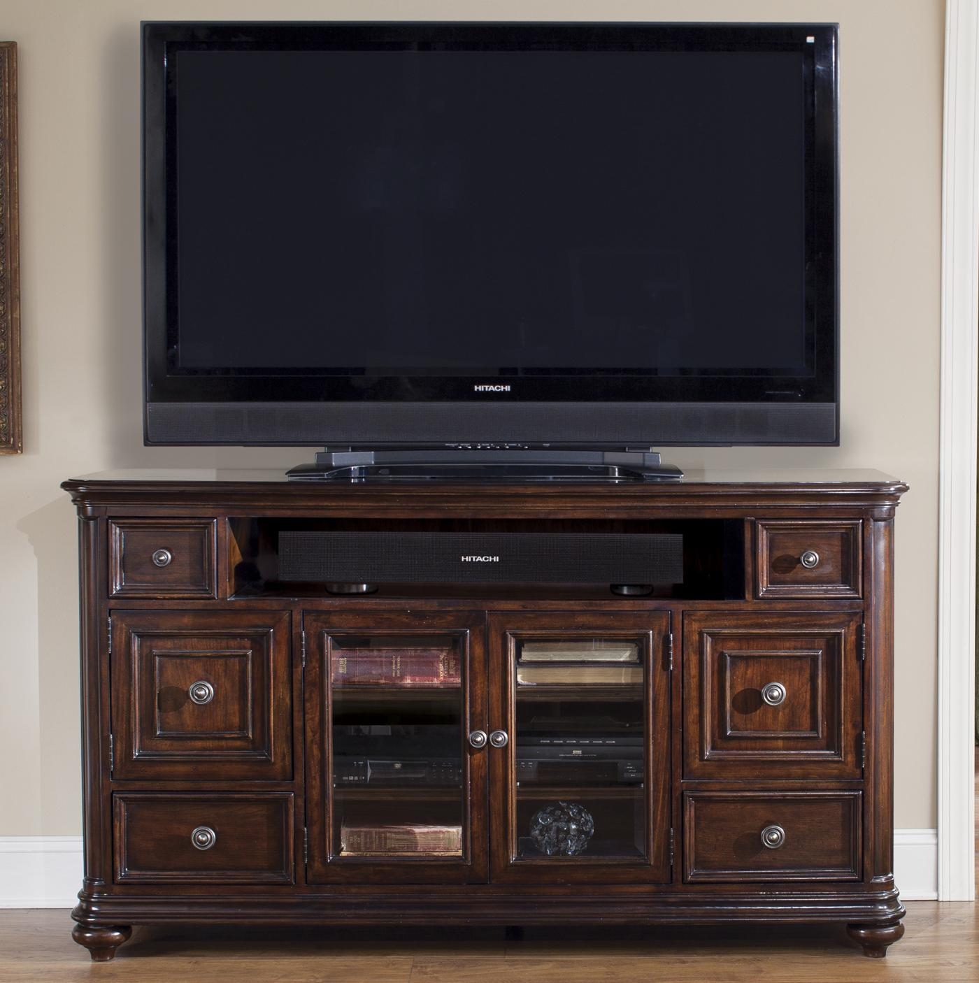 Liberty furniture kingston plantation tv console with door for Furniture kingston