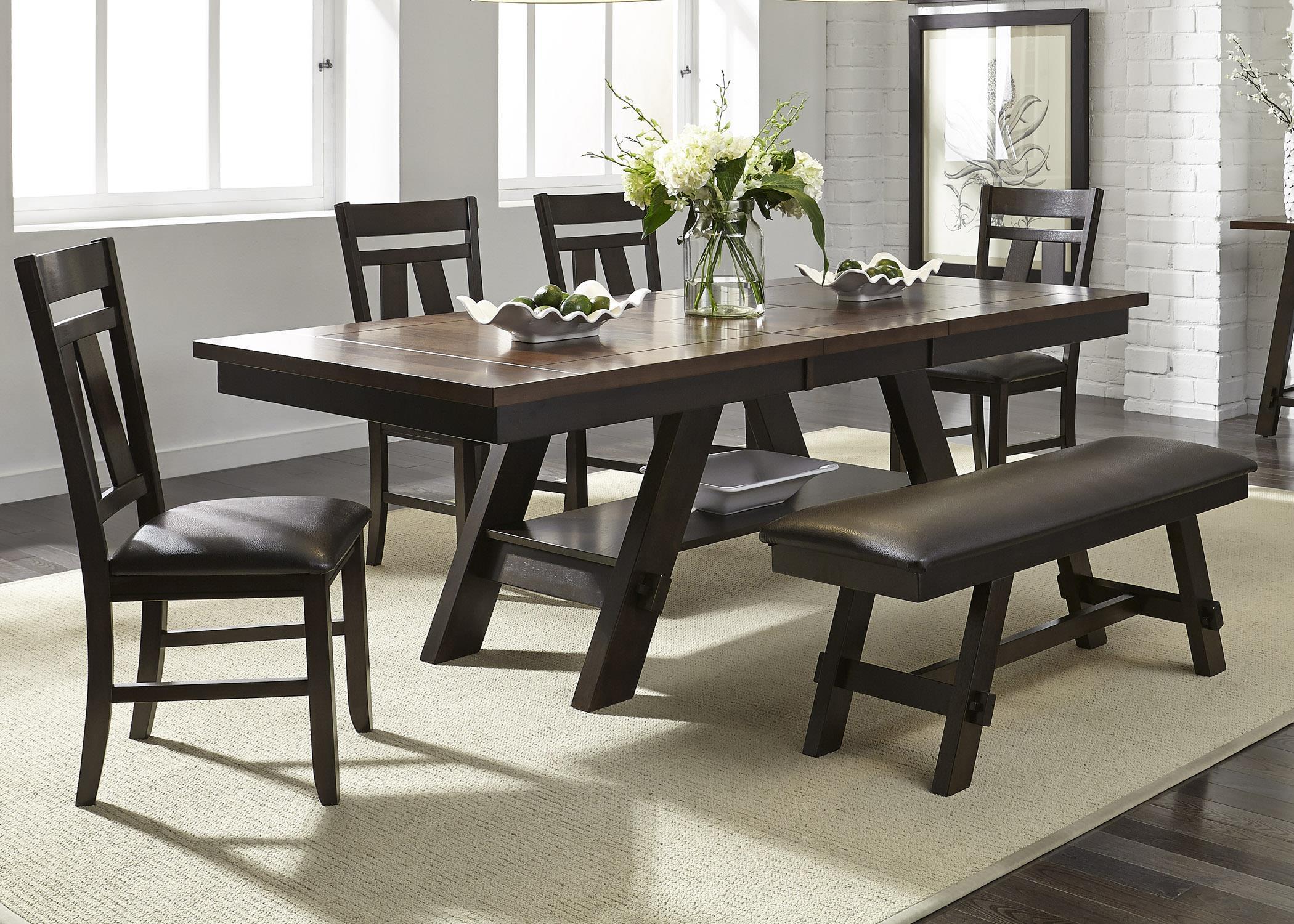 liberty furniture lawson 116 cd 6rts 6 piece rectangular table set hudson 39 s furniture dining. Black Bedroom Furniture Sets. Home Design Ideas