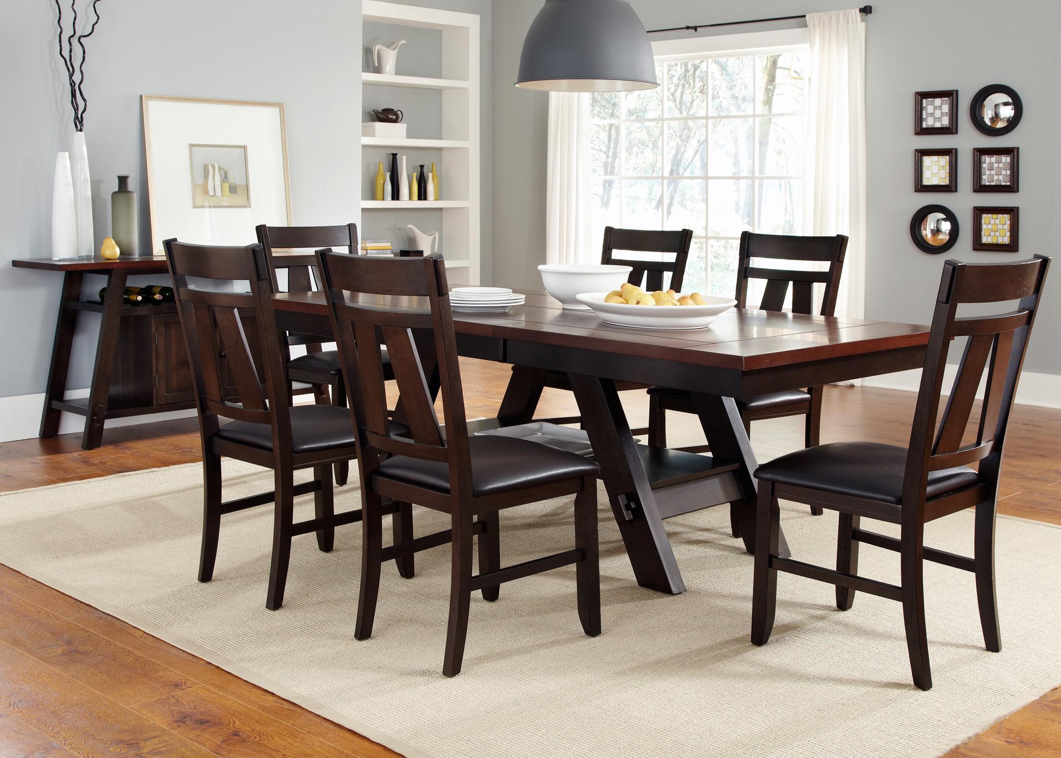 Vendor 5349 lawson 116 cd 7rls 7 piece rectangular trestle for World best dining tables