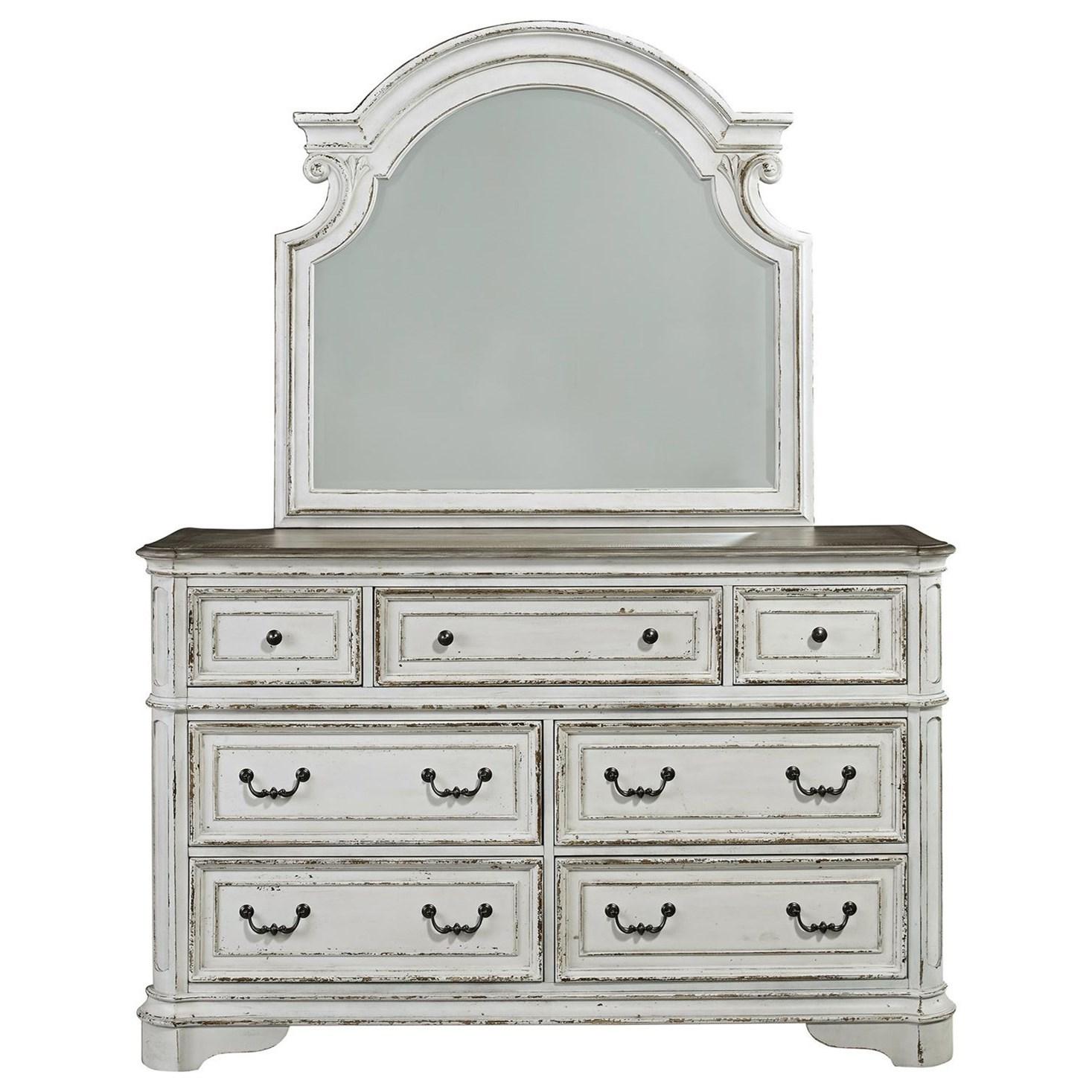 Liberty furniture magnolia manor 244 br dm 7 drawer for Dresser sets