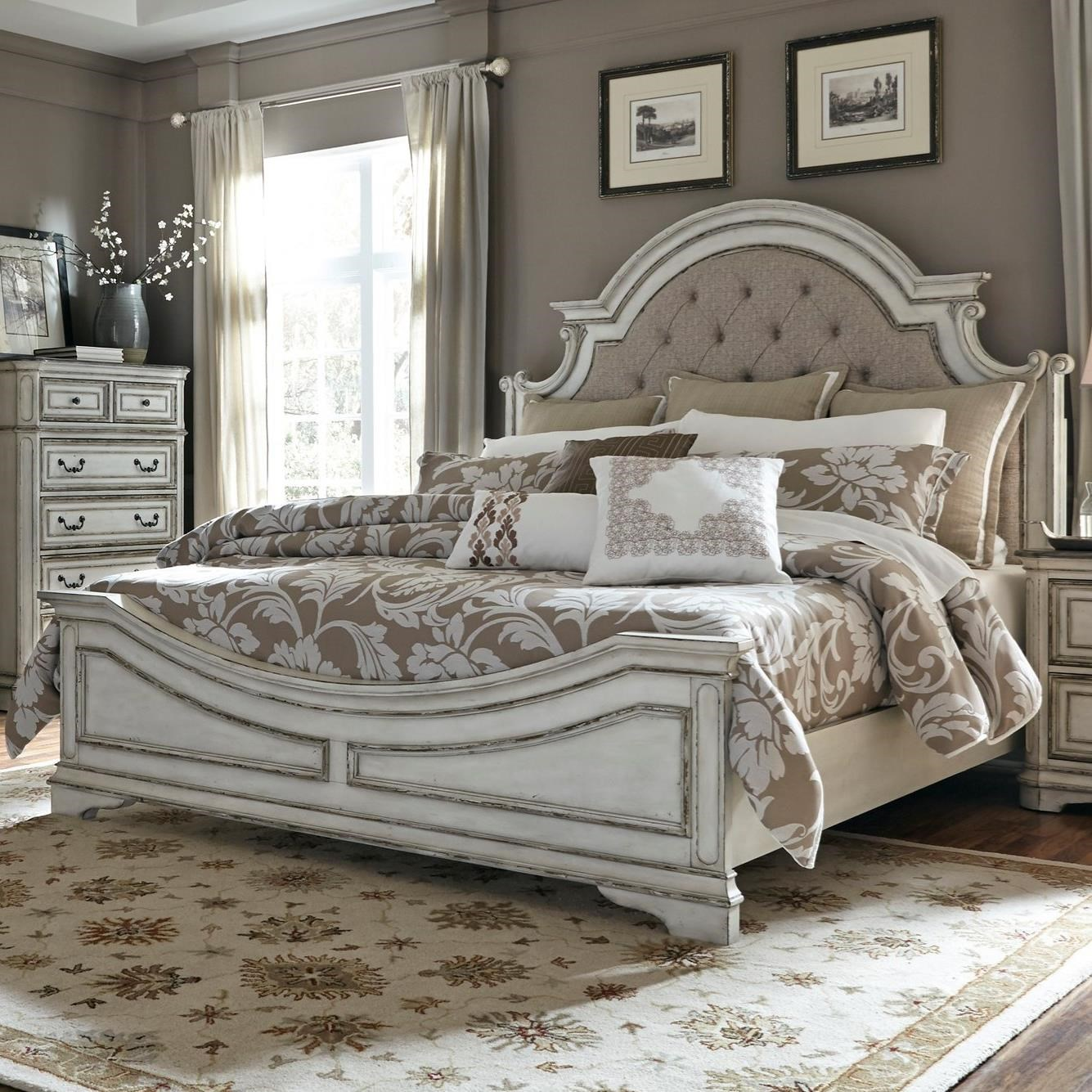 Liberty Furniture Magnolia Manor 244 Br Kub King Upholstered Bed Great American Home Store