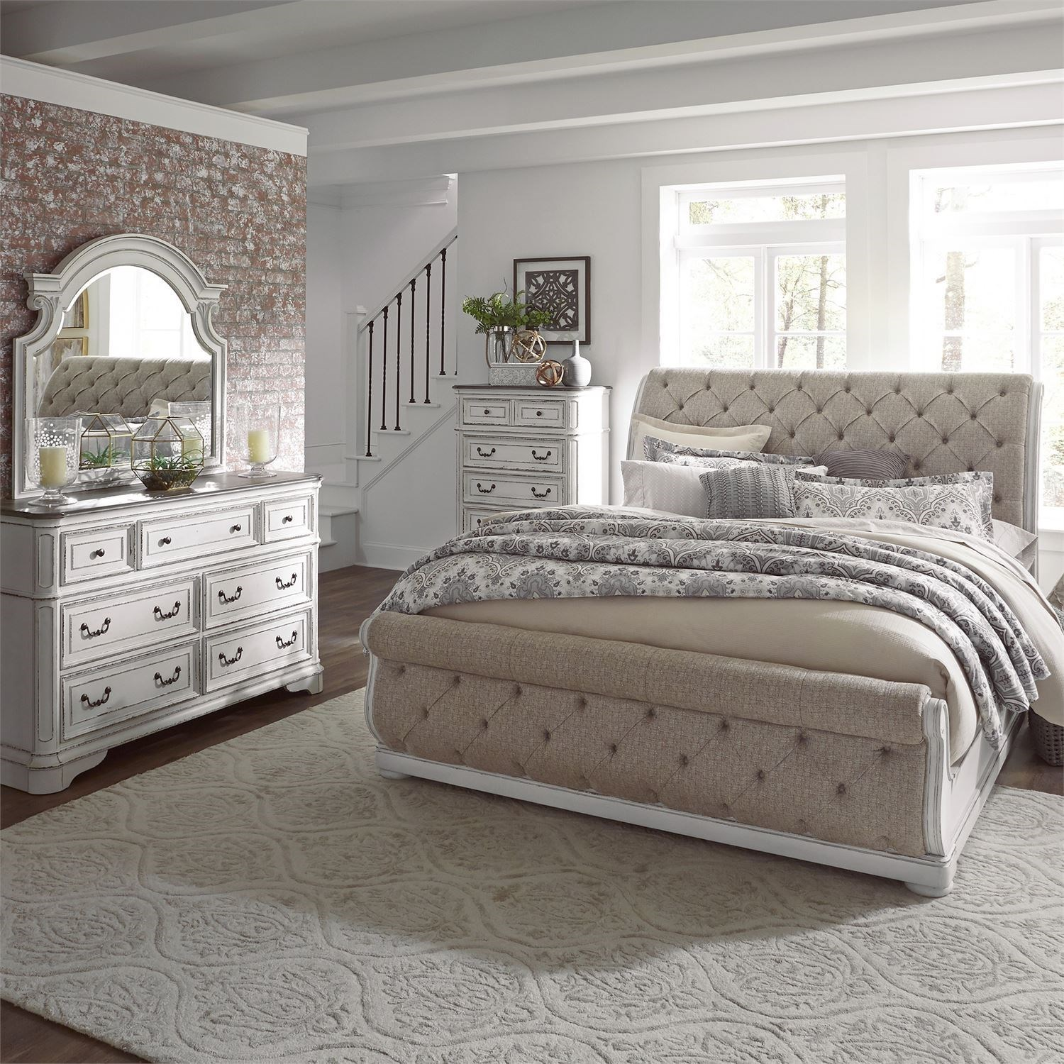 Magnolia Manor King Bedroom Group by Liberty Furniture at Van Hill Furniture