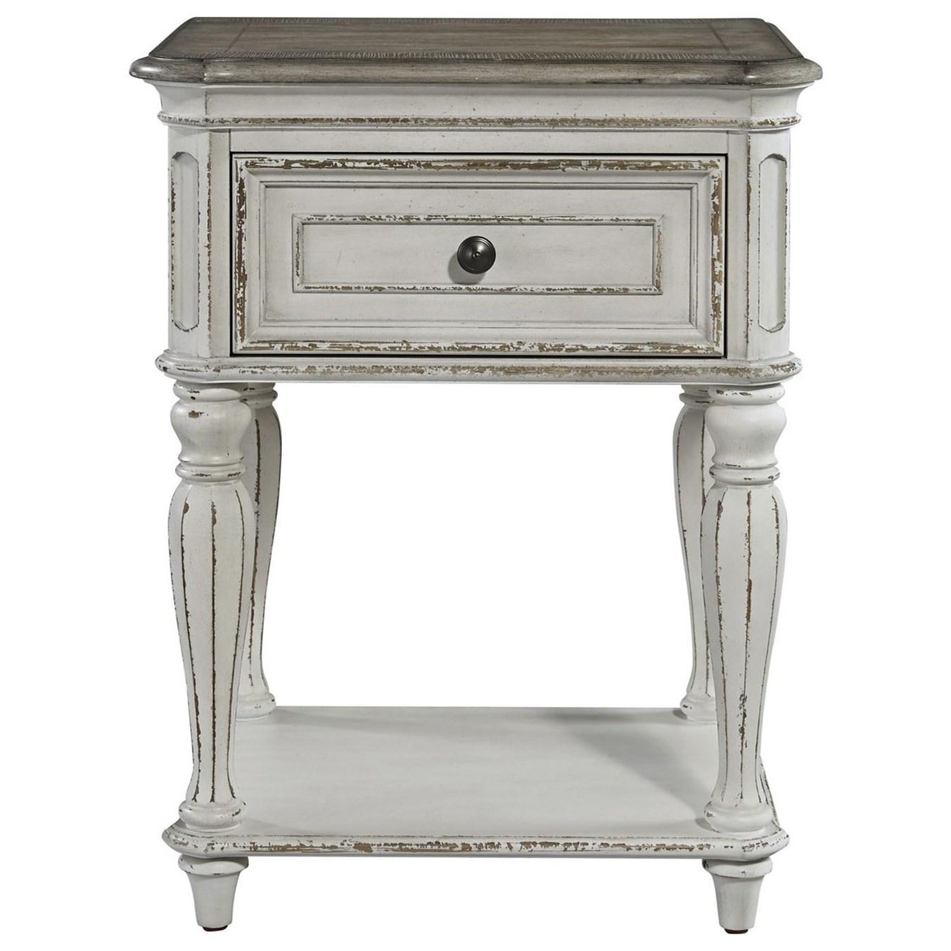 Magnolia Manor One Drawer Nightstand by Sarah Randolph Designs at Virginia Furniture Market