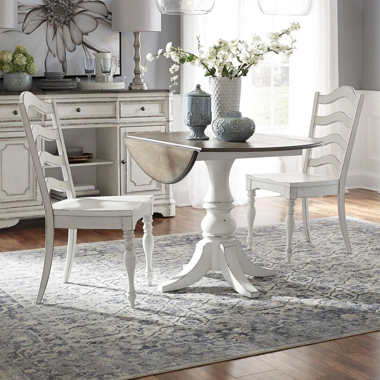 Magnolia Manor 3 Piece Table and Chair Set by Sarah Randolph Designs at Virginia Furniture Market