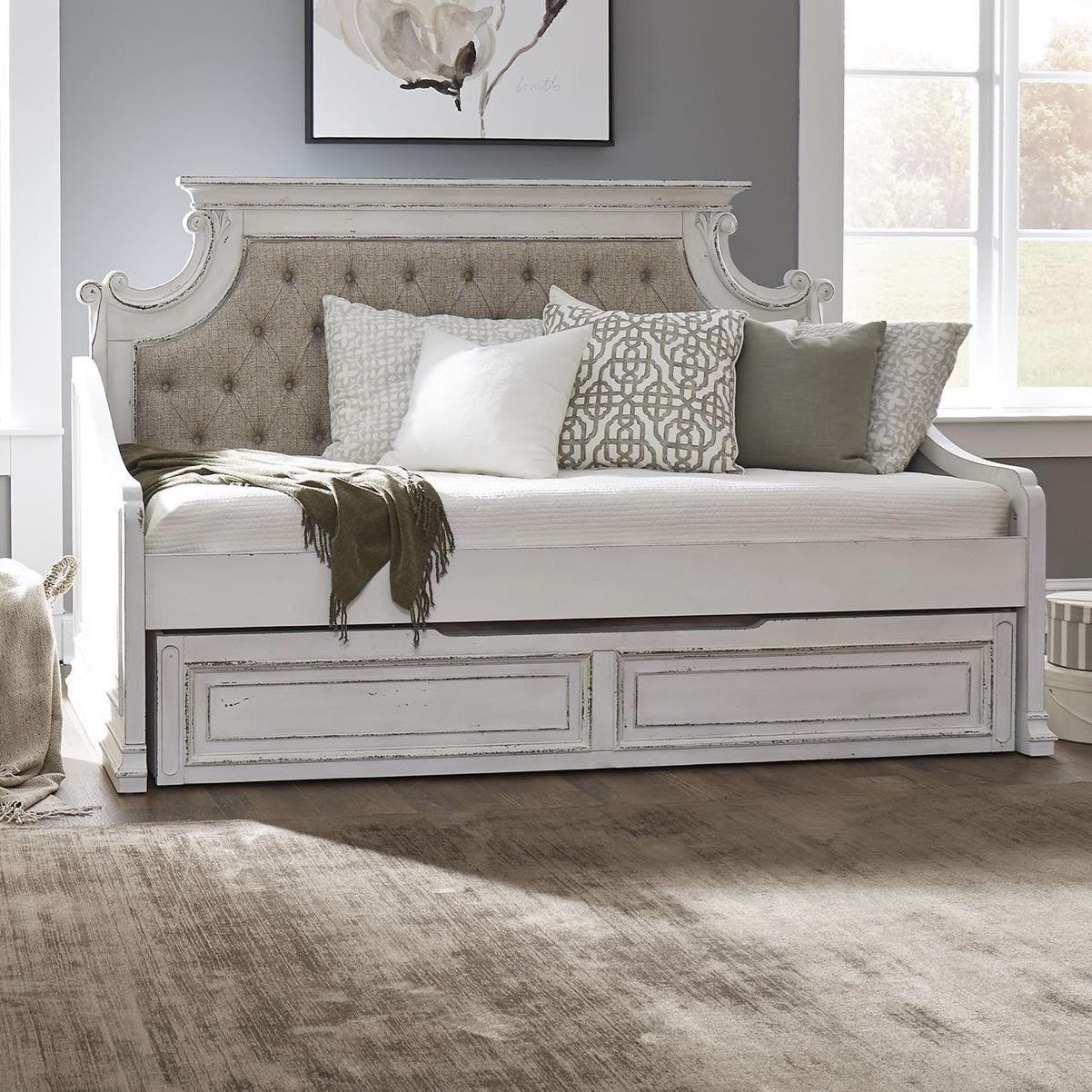 Magnolia Manor Twin Upholstered Trundle Daybed by Liberty Furniture at SuperStore