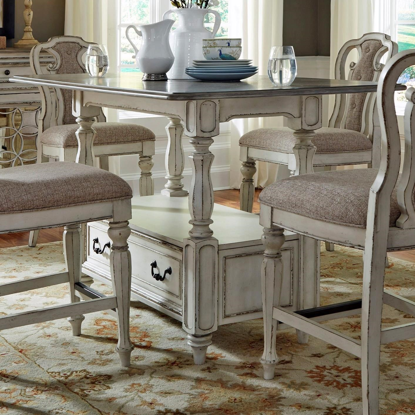 Liberty furniture magnolia manor dining 244 gt3660 for Hudsons furniture