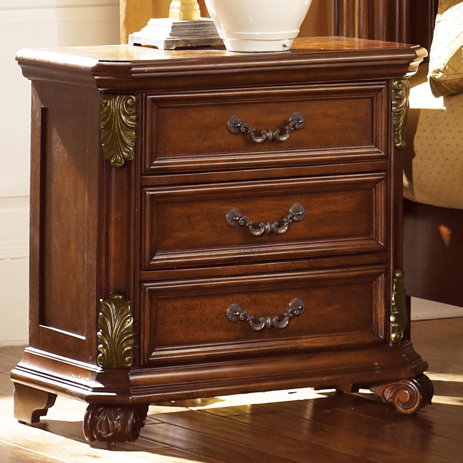 Vendor 5349 Messina Estates 737 Br61 Nightstand With 3 Drawers Becker Furniture World Night