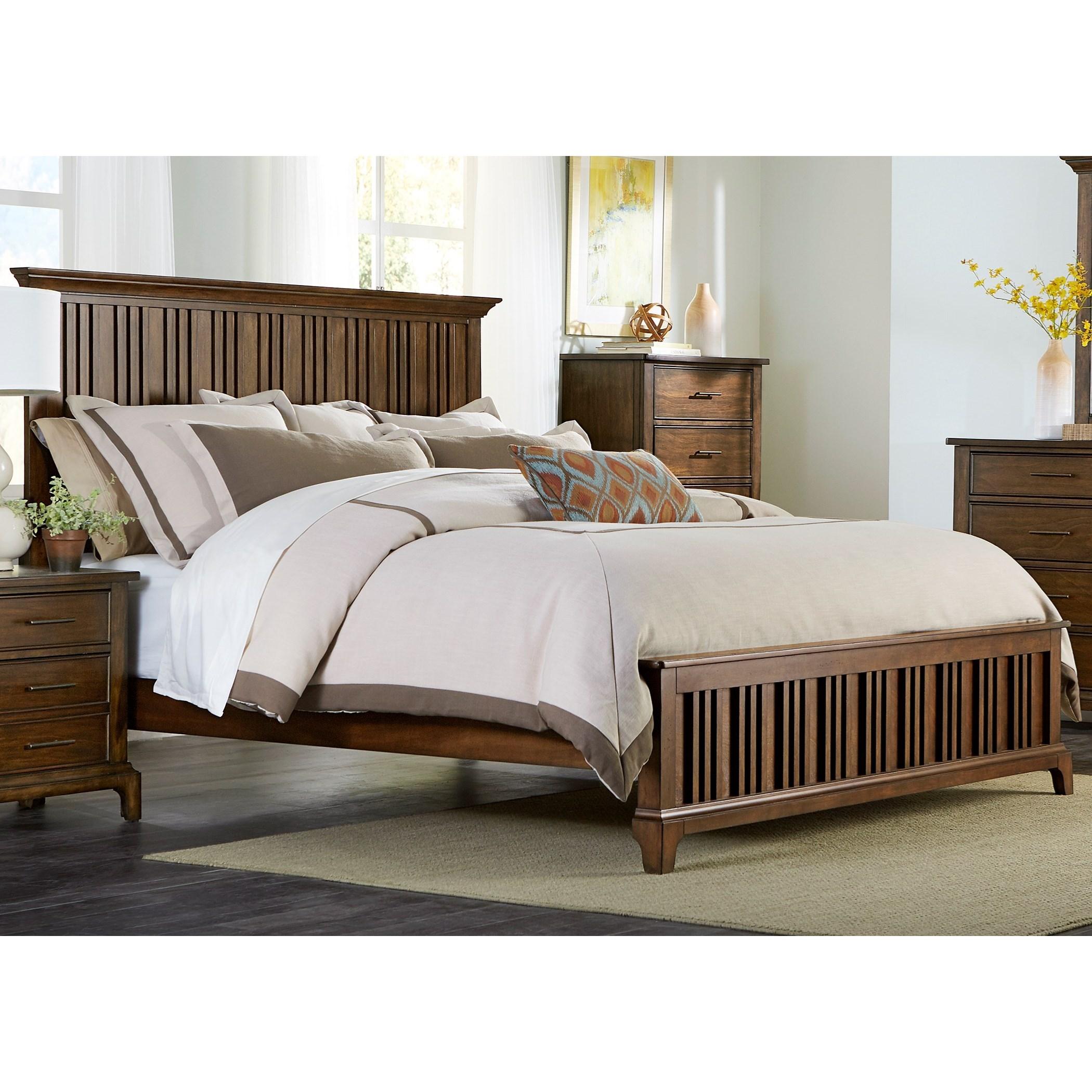 Liberty Furniture Mill Creek 458 Queen Panel Bed Wayside