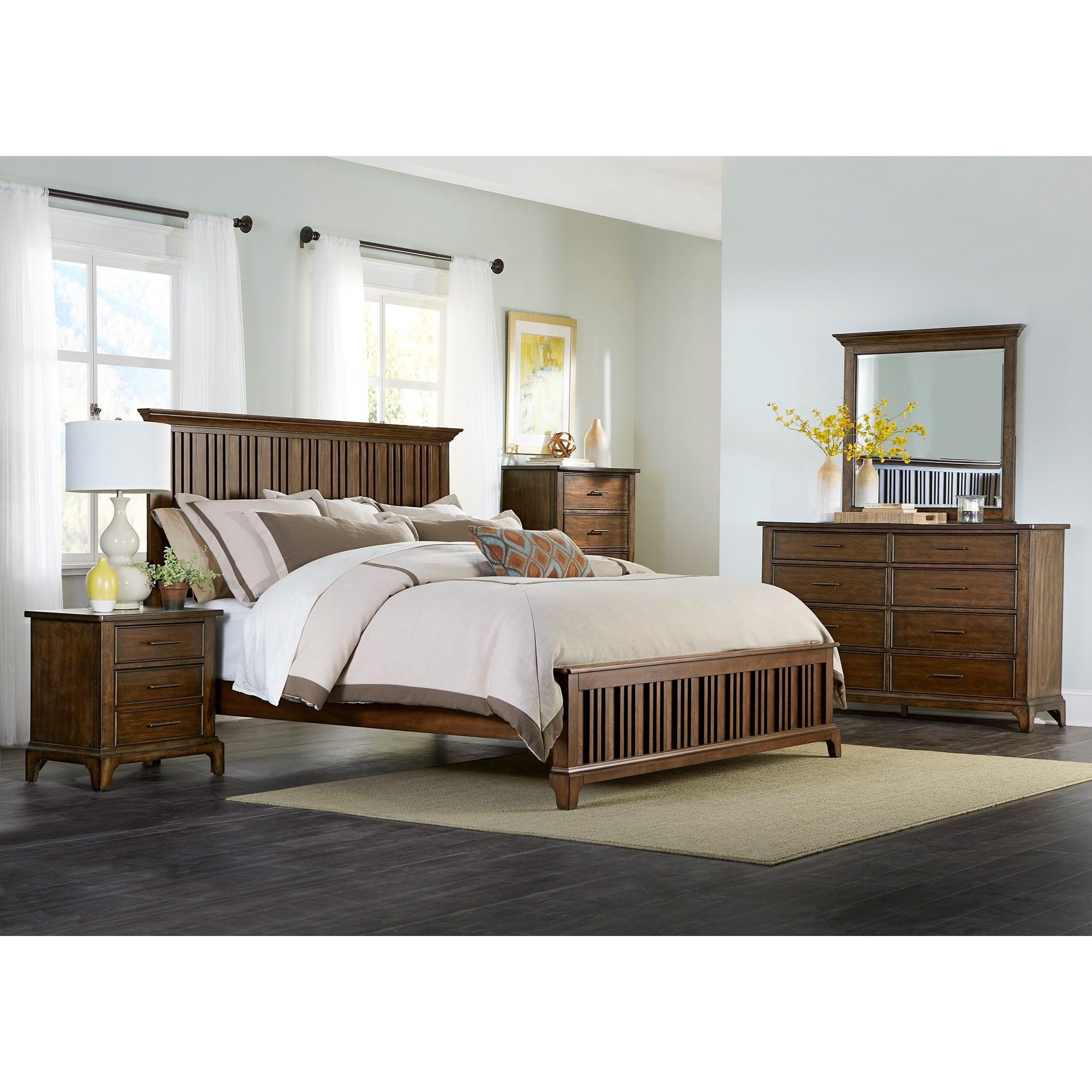 Liberty Furniture Mill Creek 458 458 Br Qpb Queen Panel