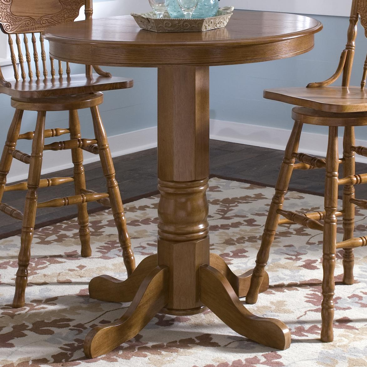 liberty furniture nostalgia round oak pub table furniture and appliancemart pub table. Black Bedroom Furniture Sets. Home Design Ideas