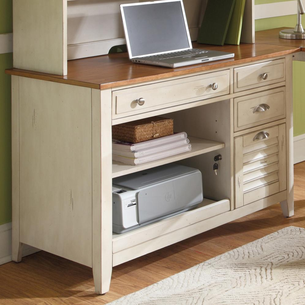Liberty Furniture Ocean Isle Computer Credenza With Flip