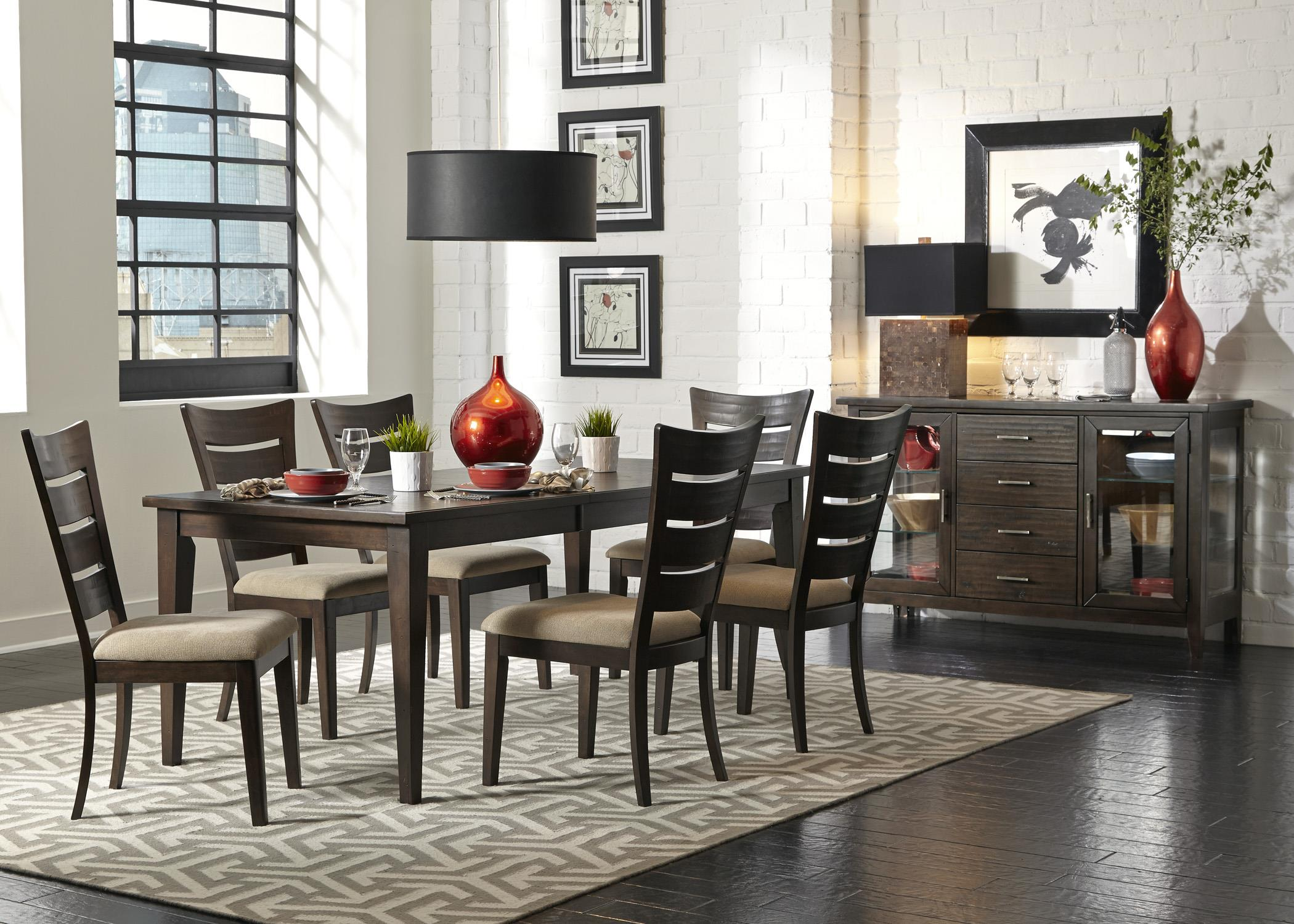Liberty furniture pebble creek casual dining room group for Informal dining room tables