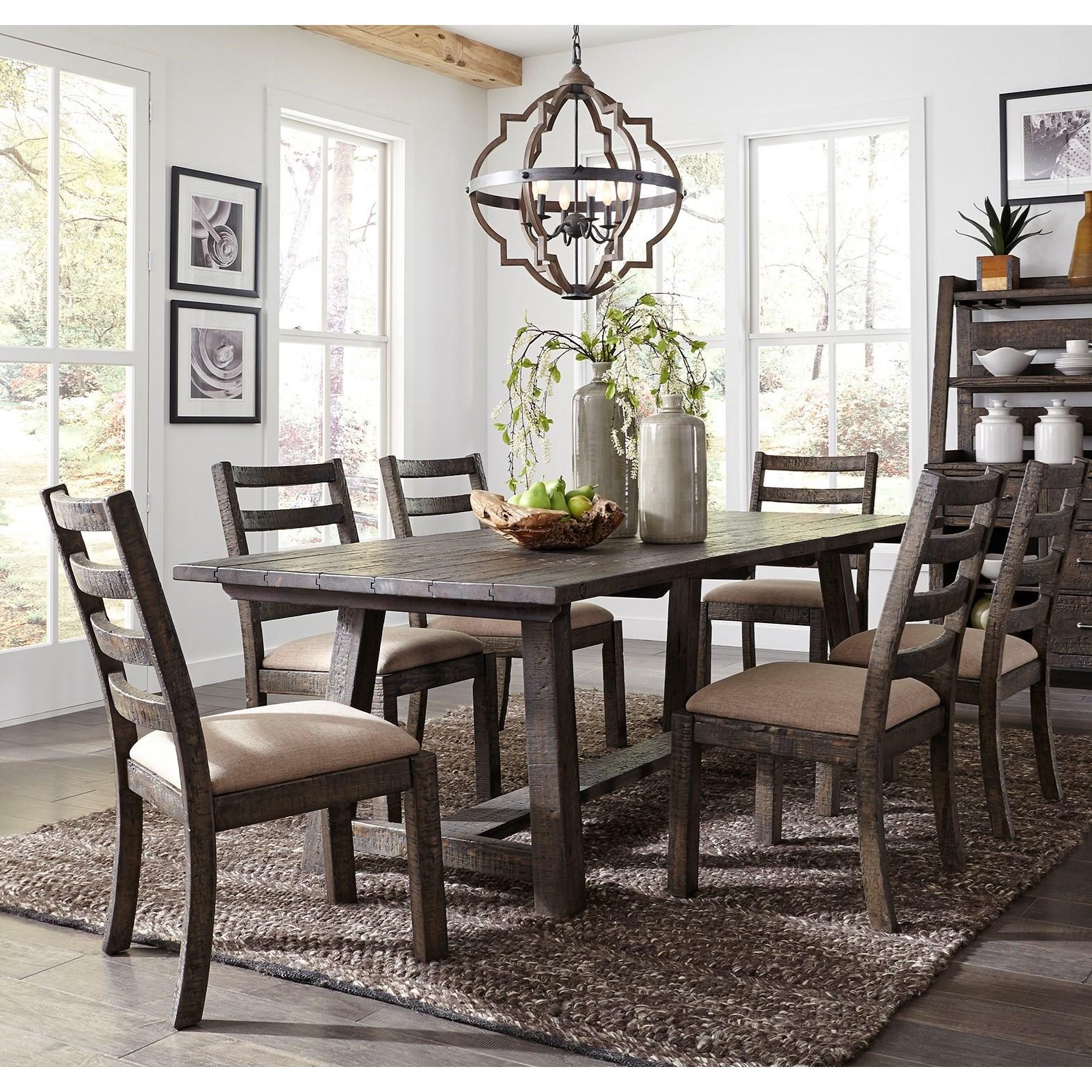 Liberty furniture prescott valley rustic 7 piece 96 for Furniture 96