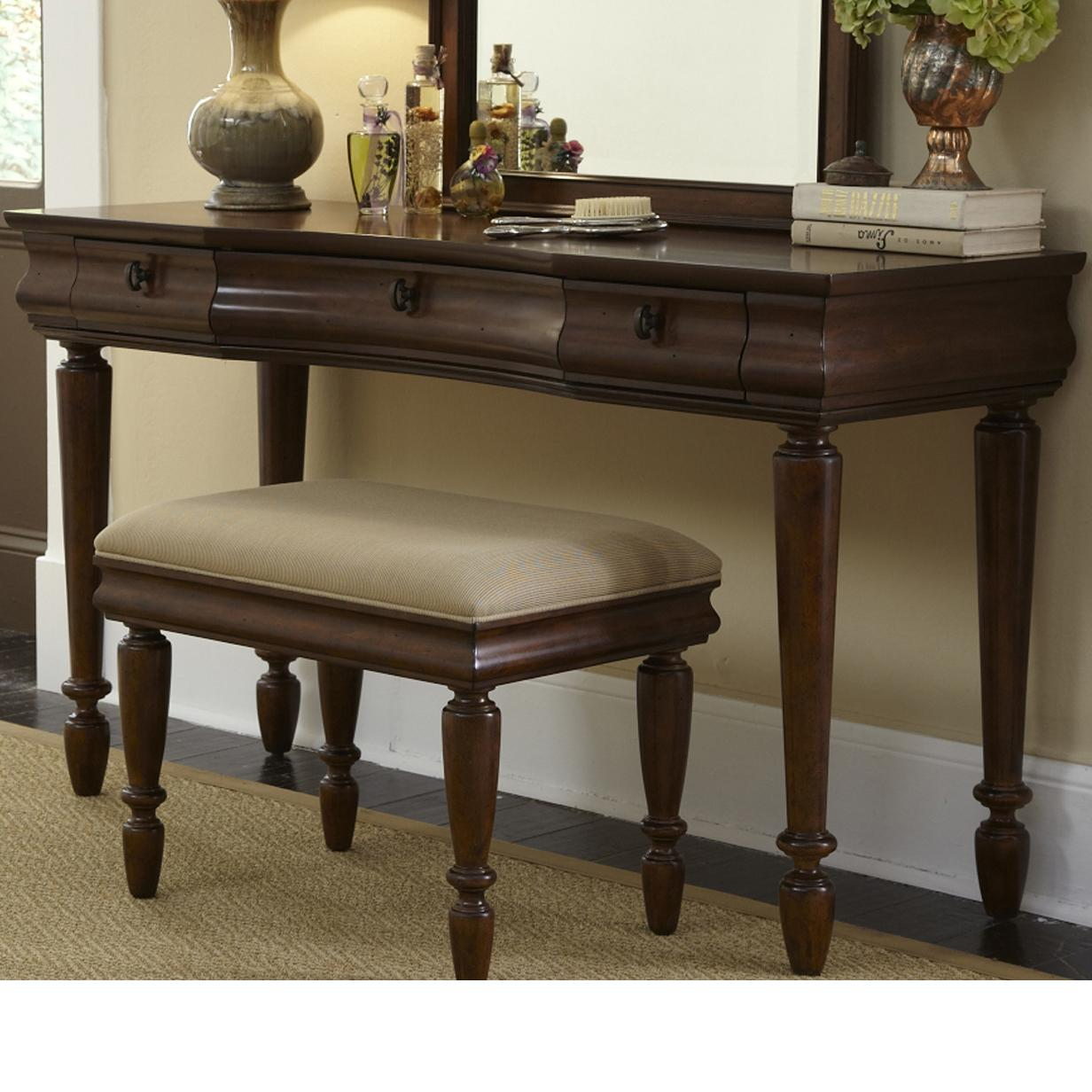 Liberty furniture rustic traditions vanity base with 3 for Wayside furniture