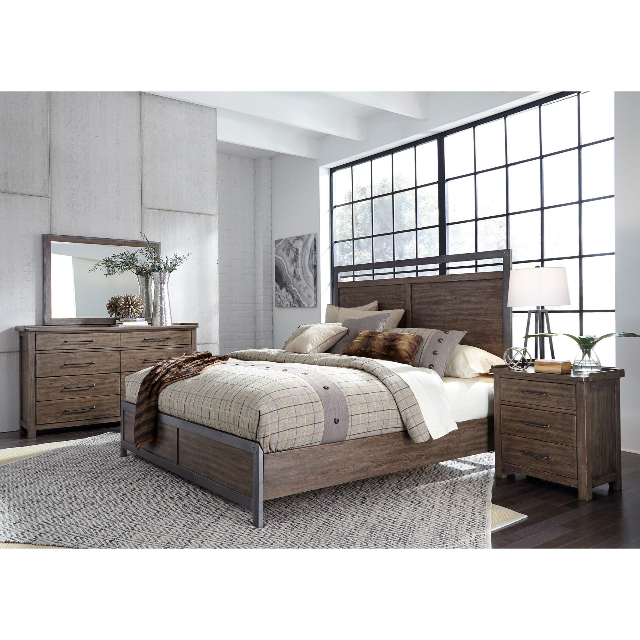 Liberty furniture sonoma road 473 br qpbdmn queen bedroom for Bedroom groups
