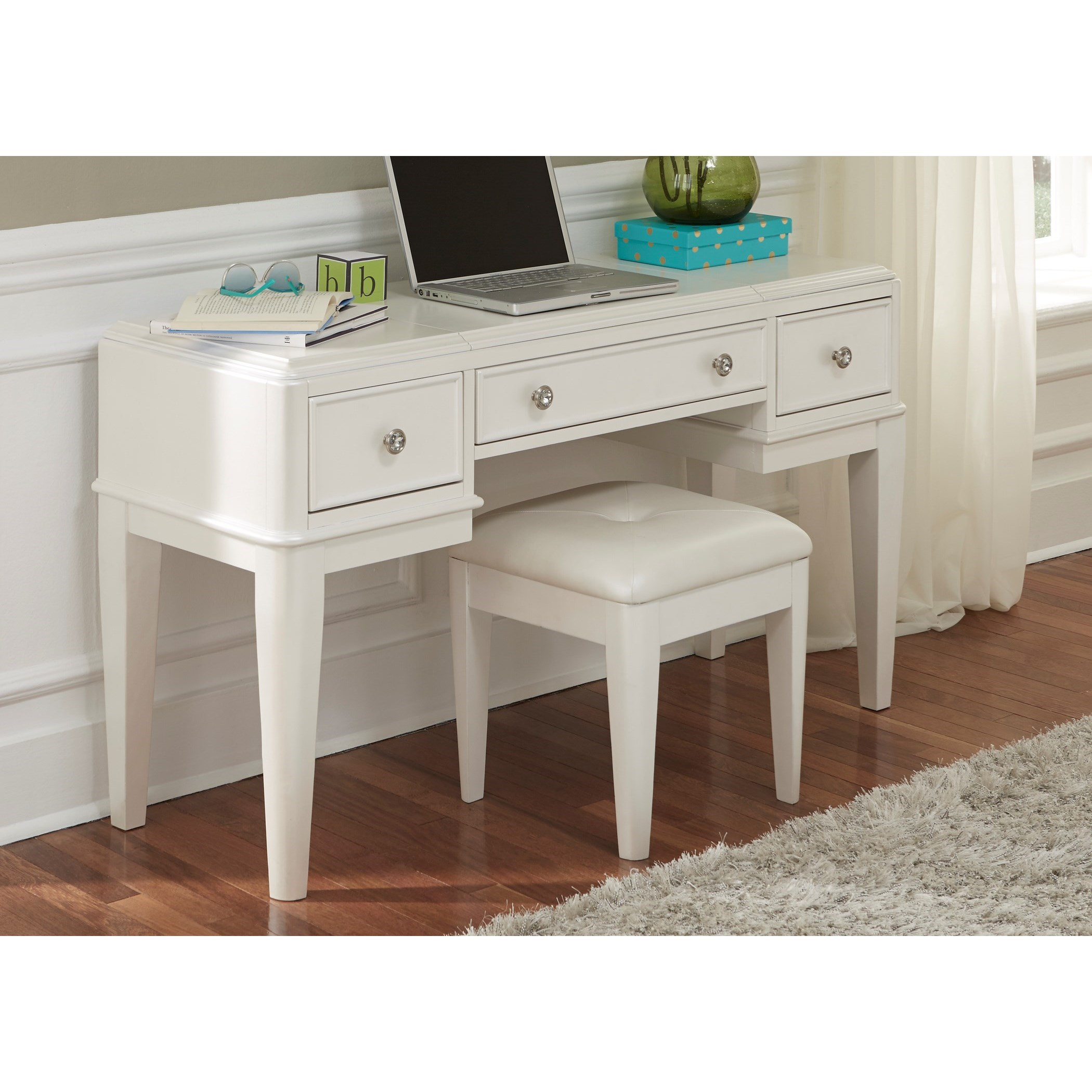 Liberty furniture stardust contemporary glam youth vanity for Wayside furniture