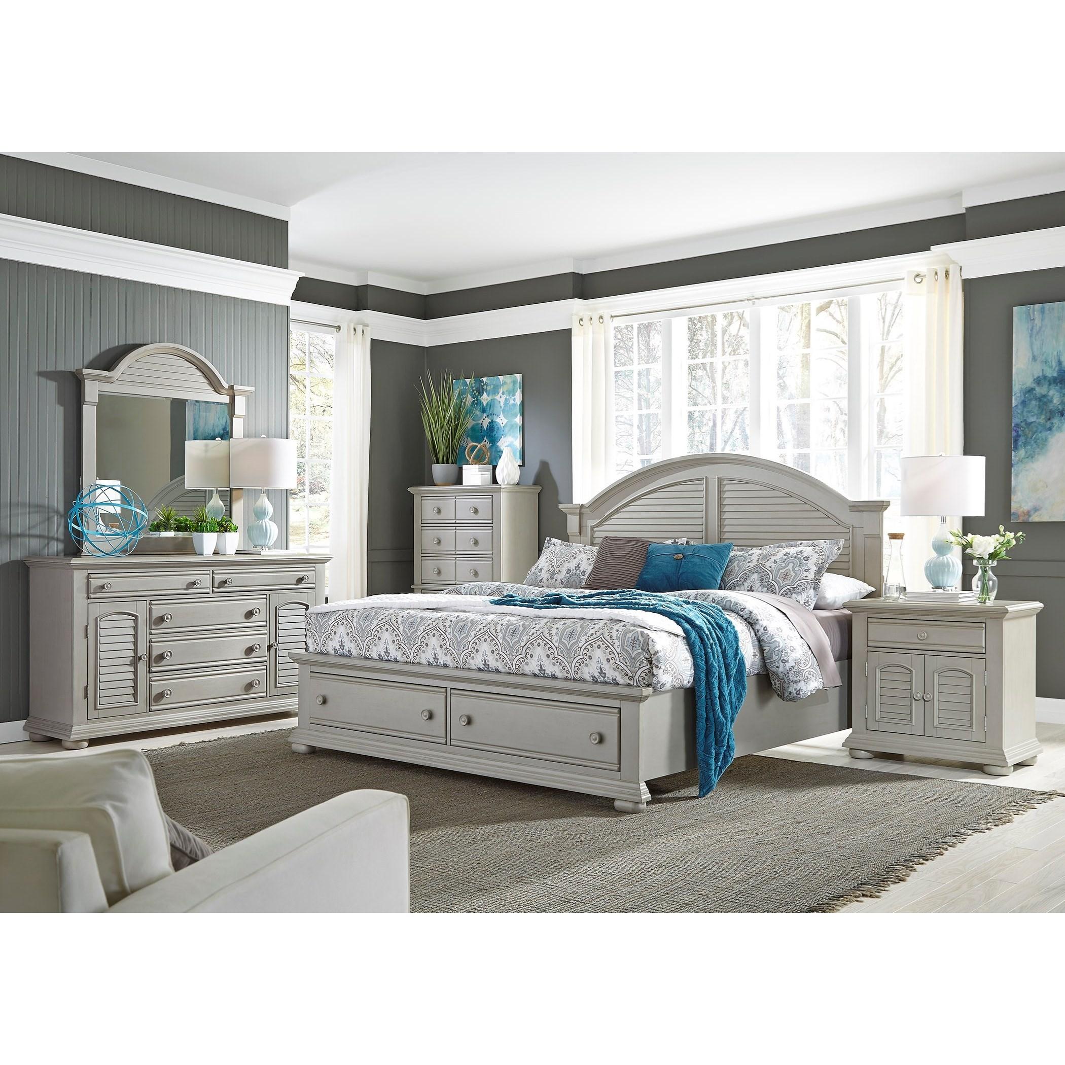 Liberty Furniture Summer House Ii 407 Br32 2 Door 5 Drawer Dresser Furniture And Appliancemart