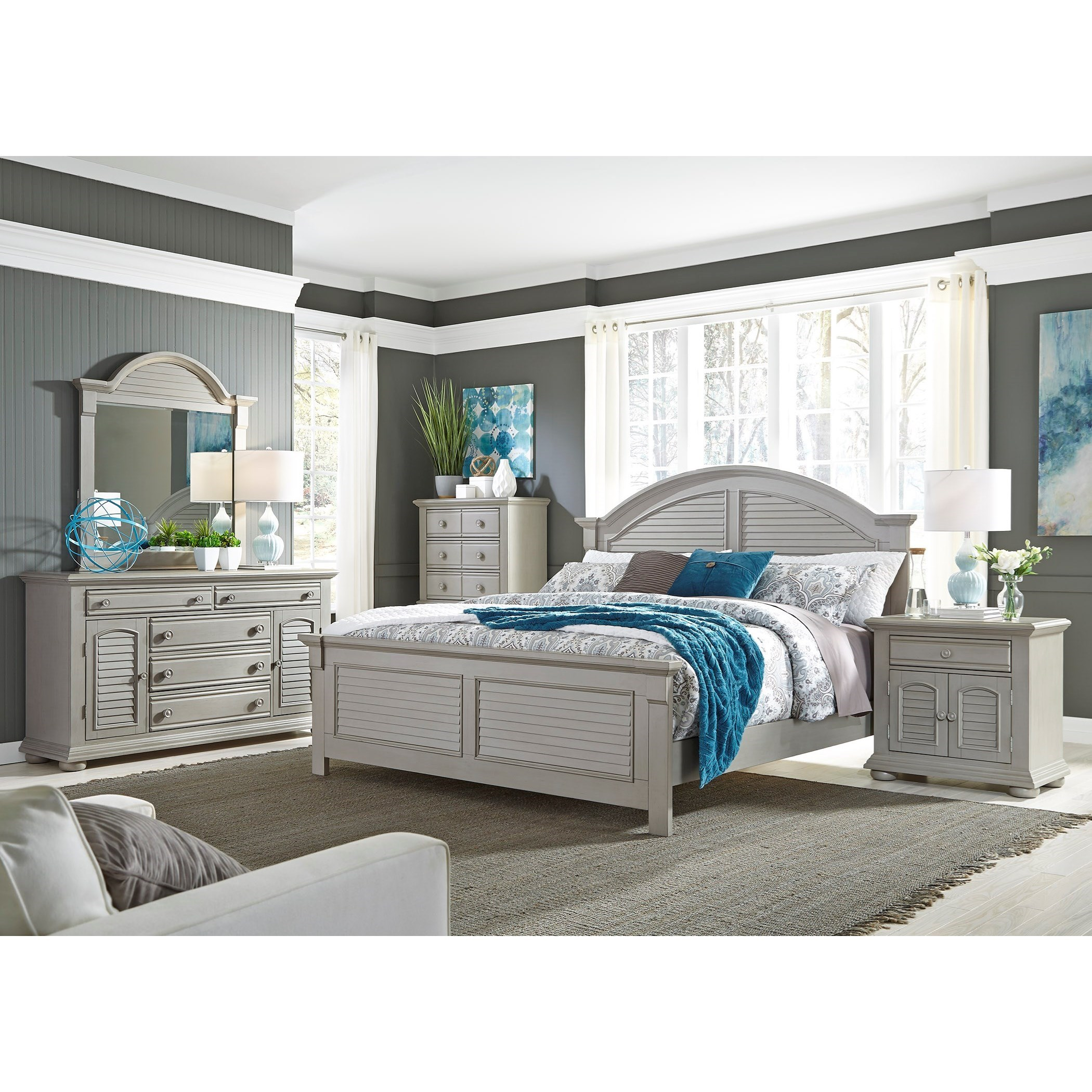 Liberty Furniture Summer House Ii 407 Br61 2 Door 1 Drawer Nightstand Furniture And