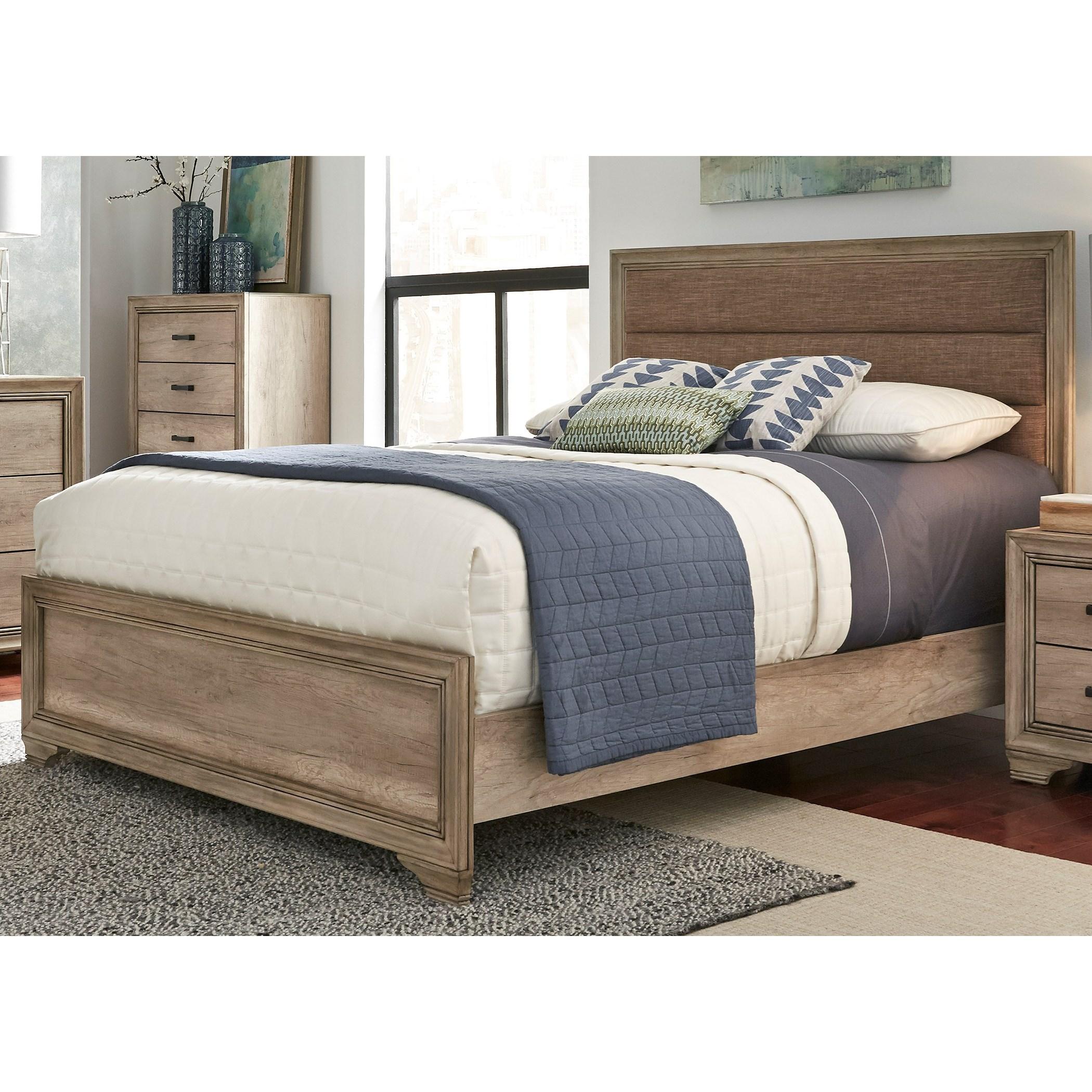 Sydney queen upholstered panel bed rotmans upholstered for Beds sydney
