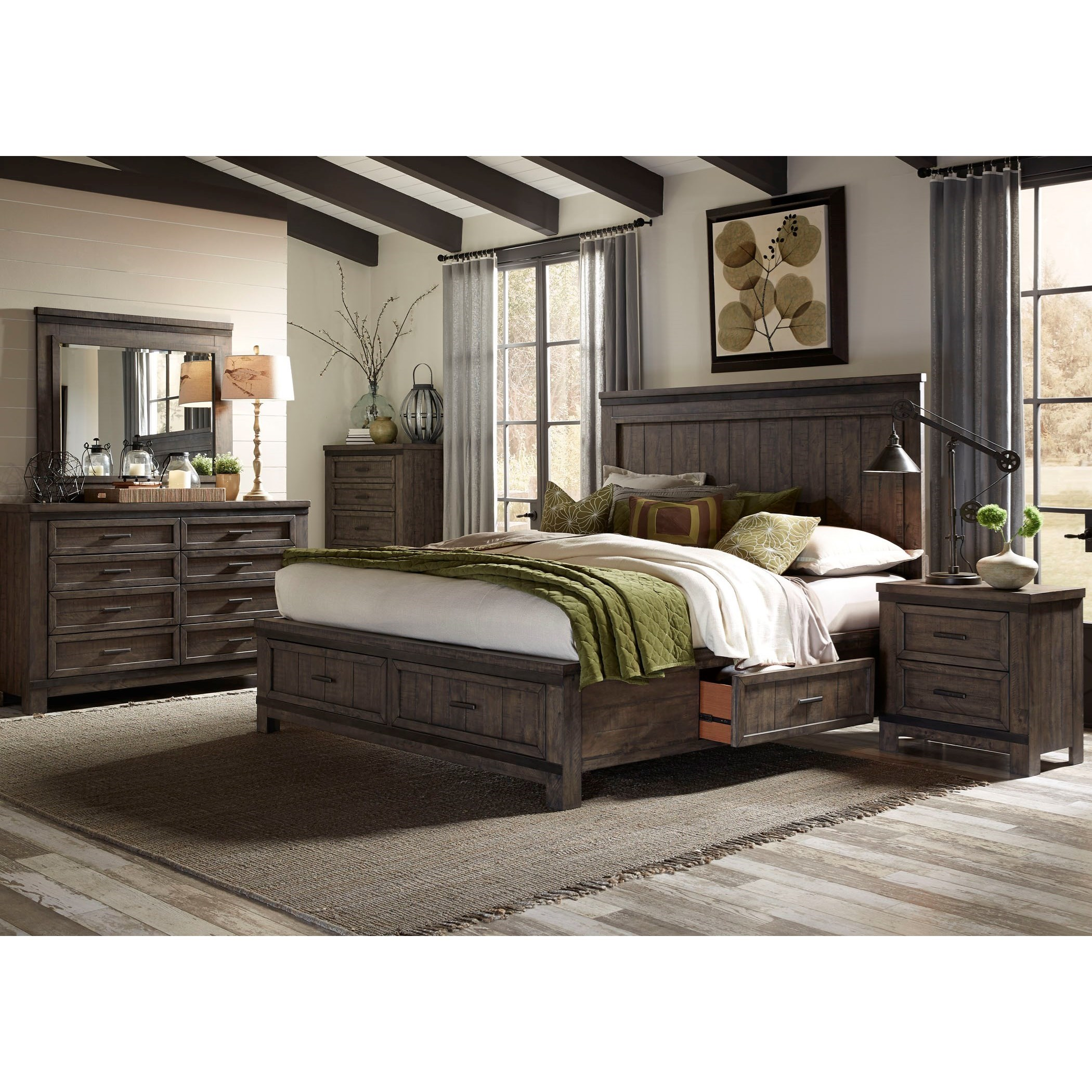 Liberty Furniture Thornwood Hills 759 Br Q2sdmcn Queen Bedroom Group Furniture And