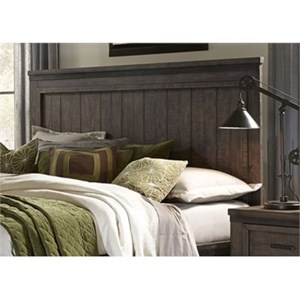 Signature Design By Ashley Demarlos Queen Upholstered Panel Headboard With Nailhead Trim