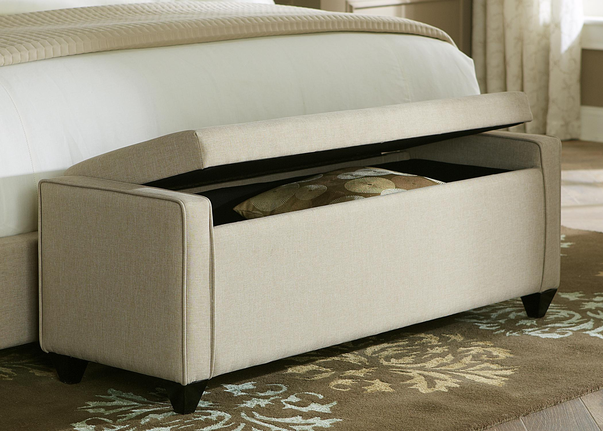 Upholstered beds lift top bed bench rotmans for Foot of bed furniture