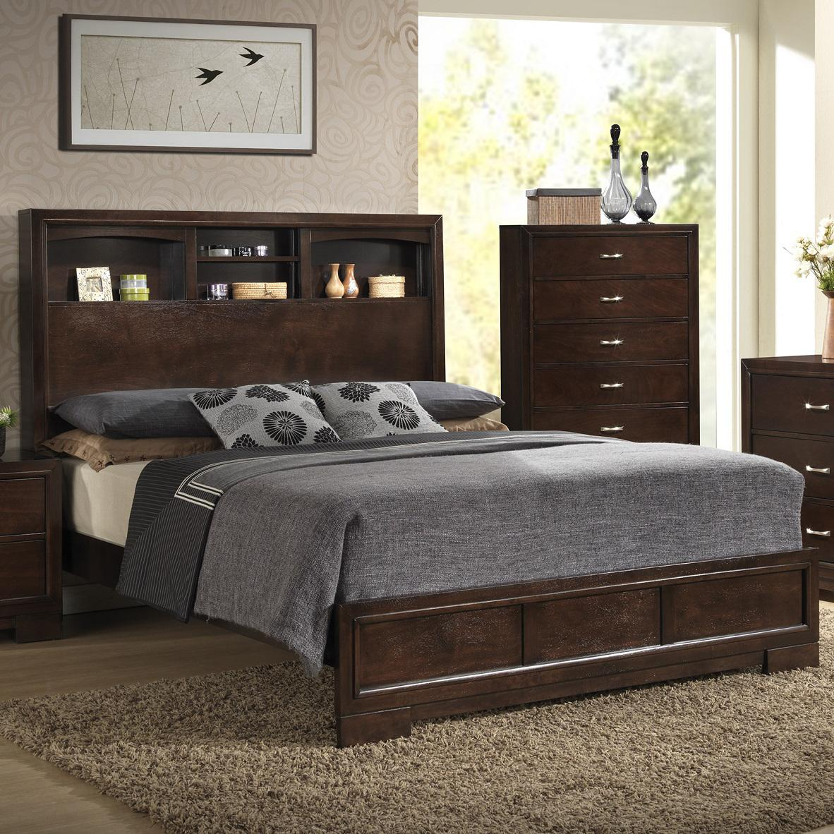 Lifestyle Bookie Contemporary Queen Bookcase Bed With 4 Shelves Royal Furniture Bookcase Bed