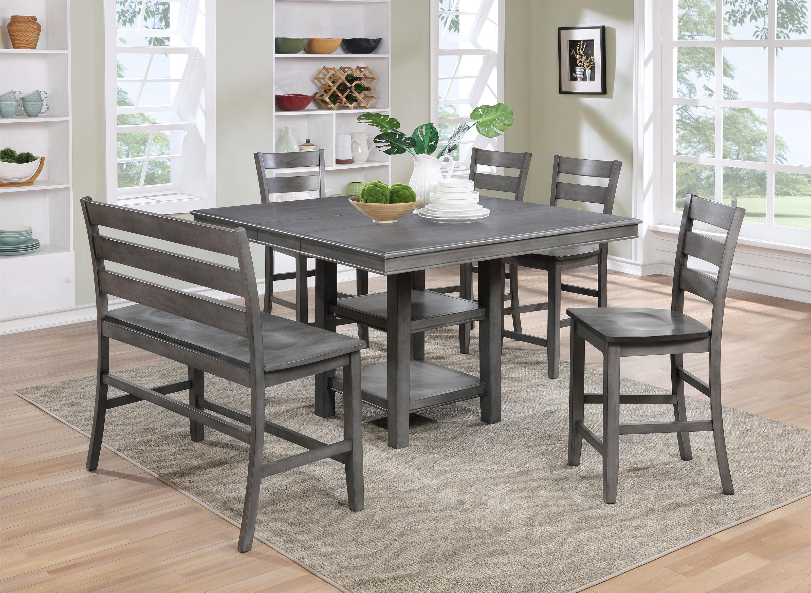 Lifestyle c1651p table and 4 stools furniture fair for Dining room tables jacksonville nc
