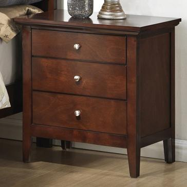 lifestyle c3136a bedroom c3136a 020 3dwy transitional three drawer nightstand with tall block. Black Bedroom Furniture Sets. Home Design Ideas