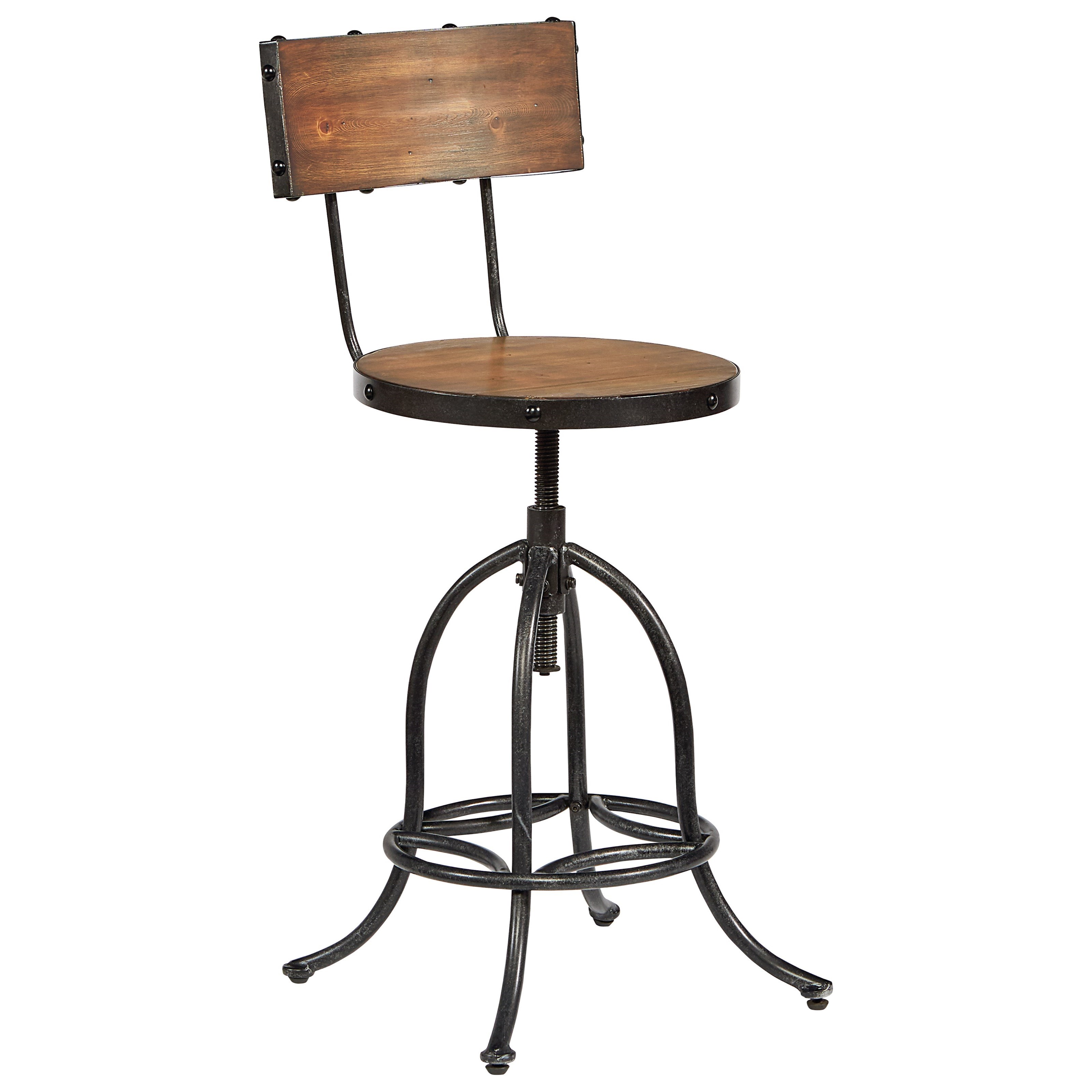 Magnolia Home By Joanna Gaines Accent Elements 8030124i Architect Stool With Bronze Legs And