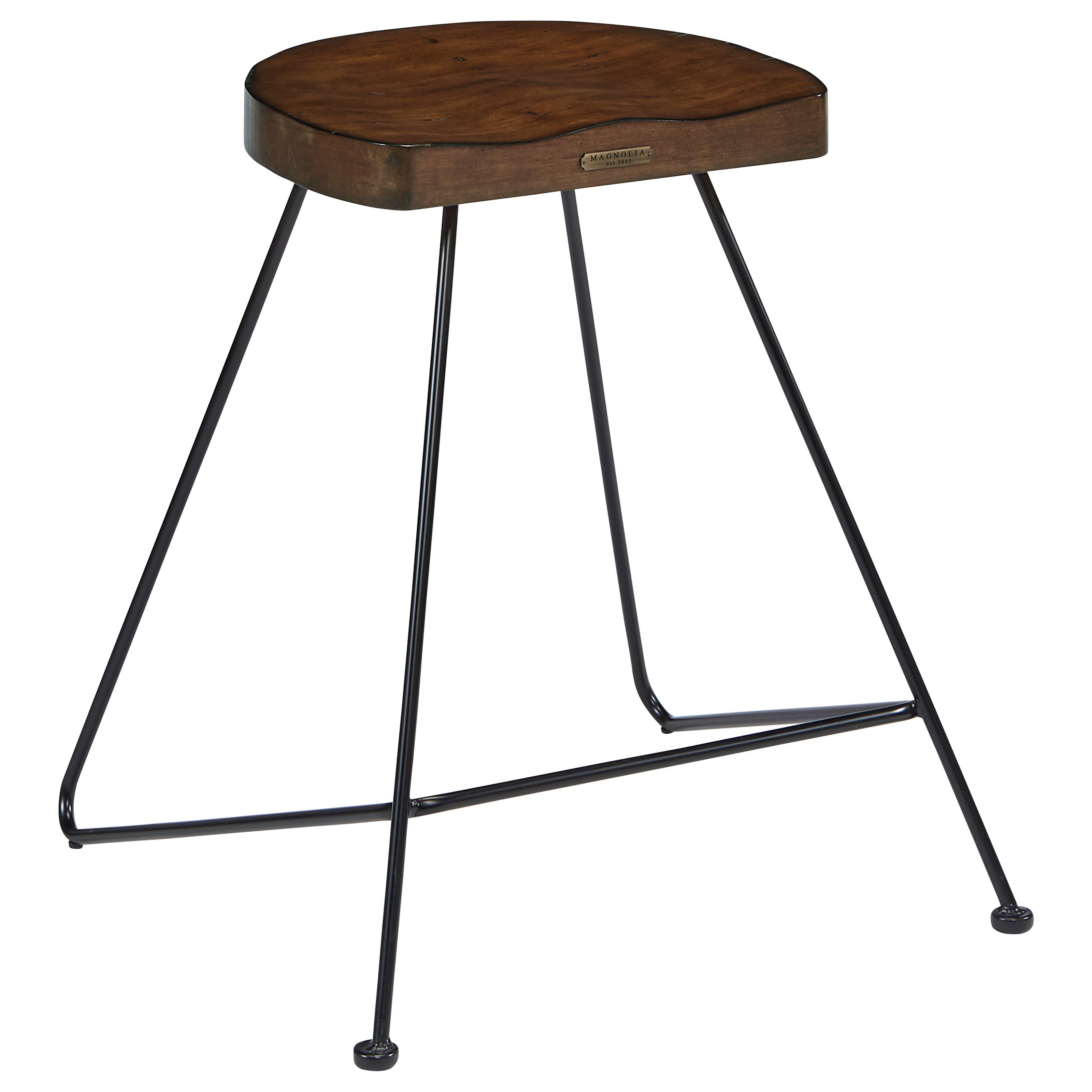 Magnolia home by joanna gaines accent elements stool with for Magnolia home furniture bar stools