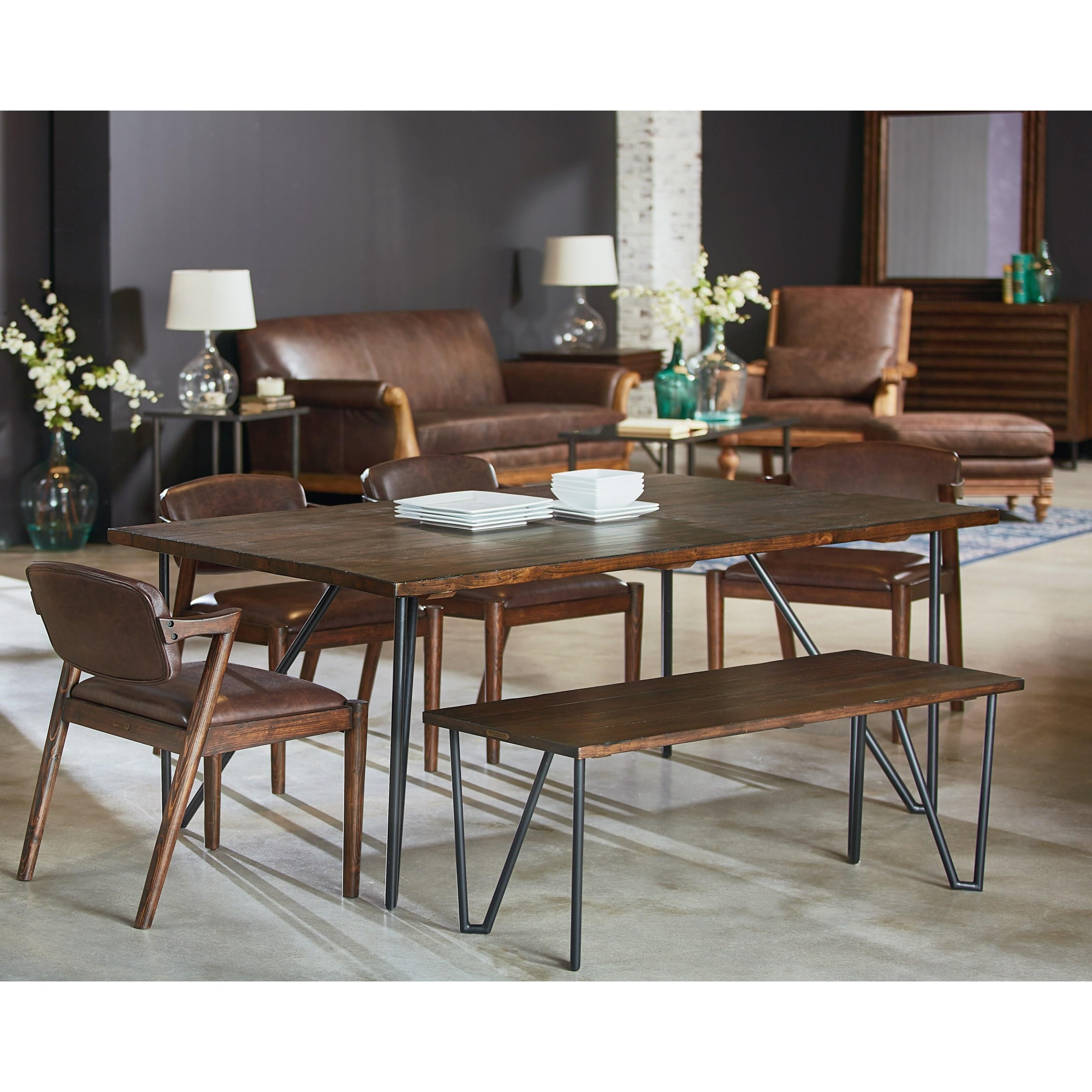 Magnolia home by joanna gaines boho 8 39 hairpin dining for Magnolia dining table