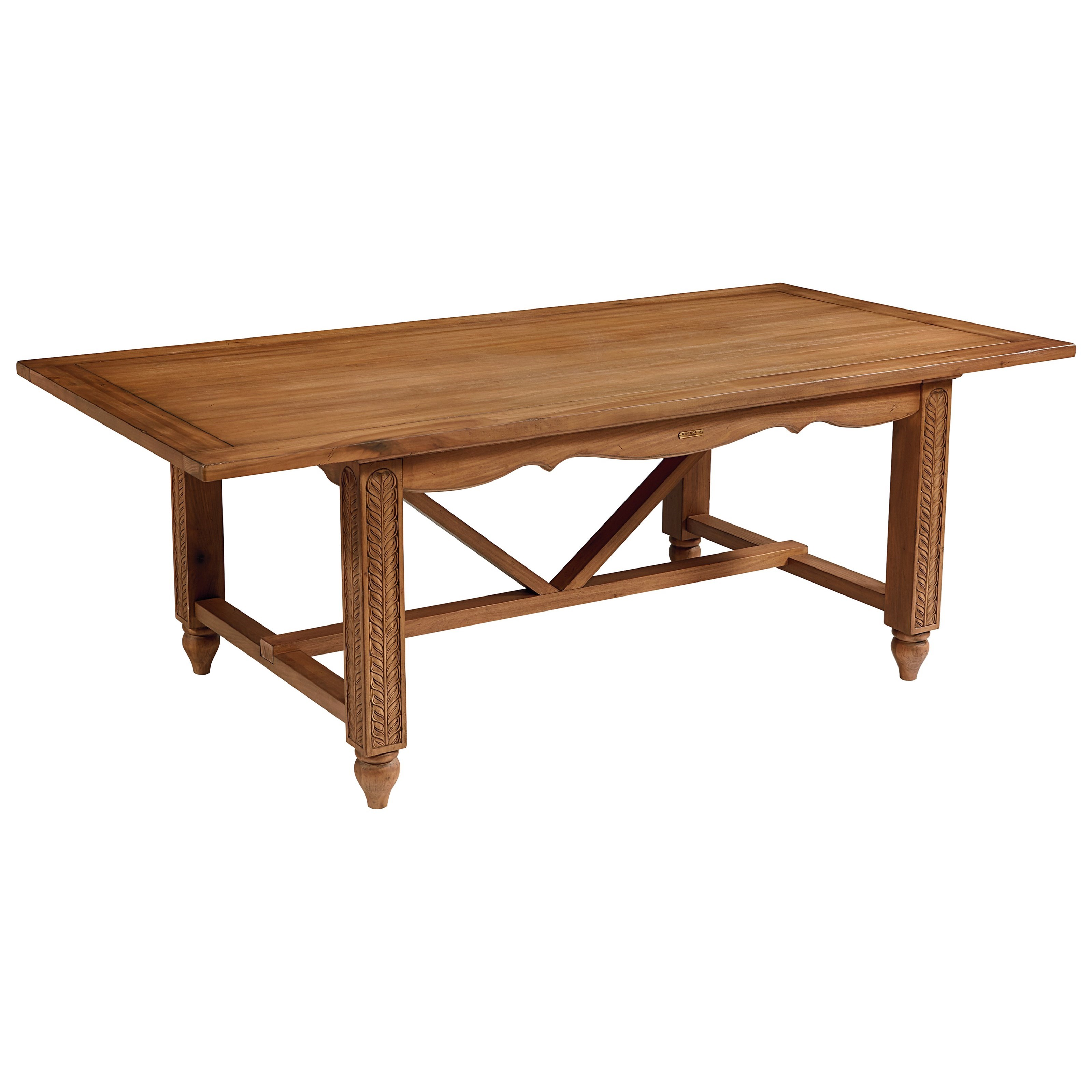 Magnolia Home By Joanna Gaines French Inspired Leaf Carved Dining Table Olinde 39 S Furniture