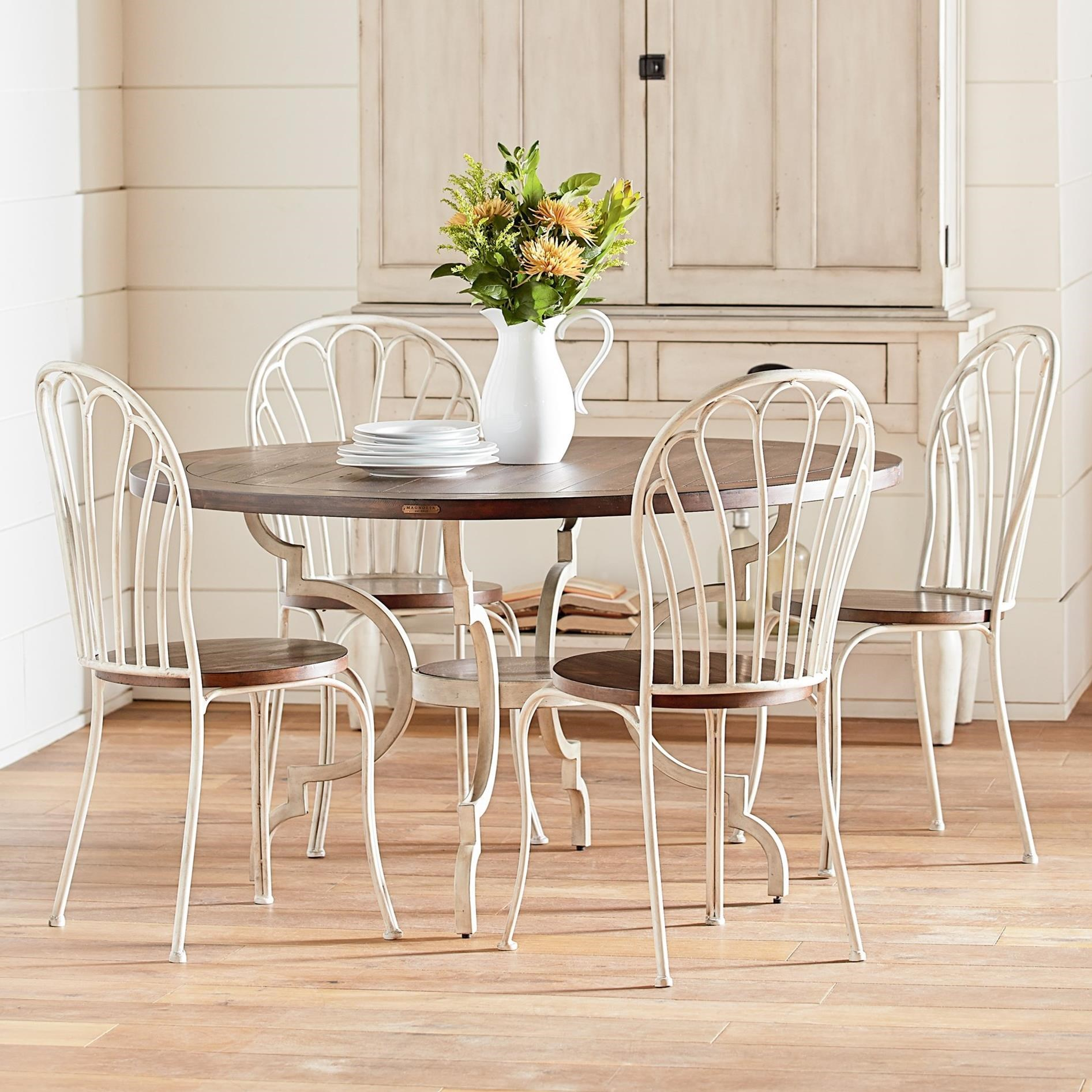 Magnolia Home By Joanna Gaines Primitive 5 Piece Round Table Chair Set