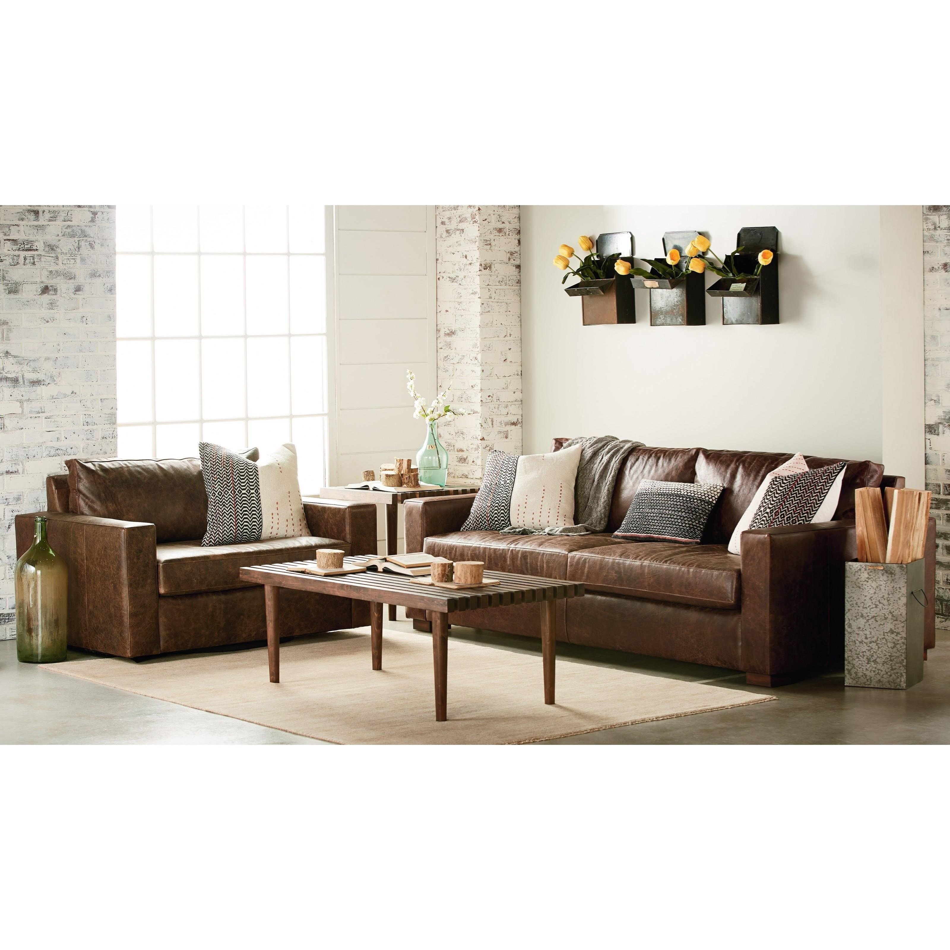 Magnolia home by joanna gaines southern sown leather sofa for F living room furniture